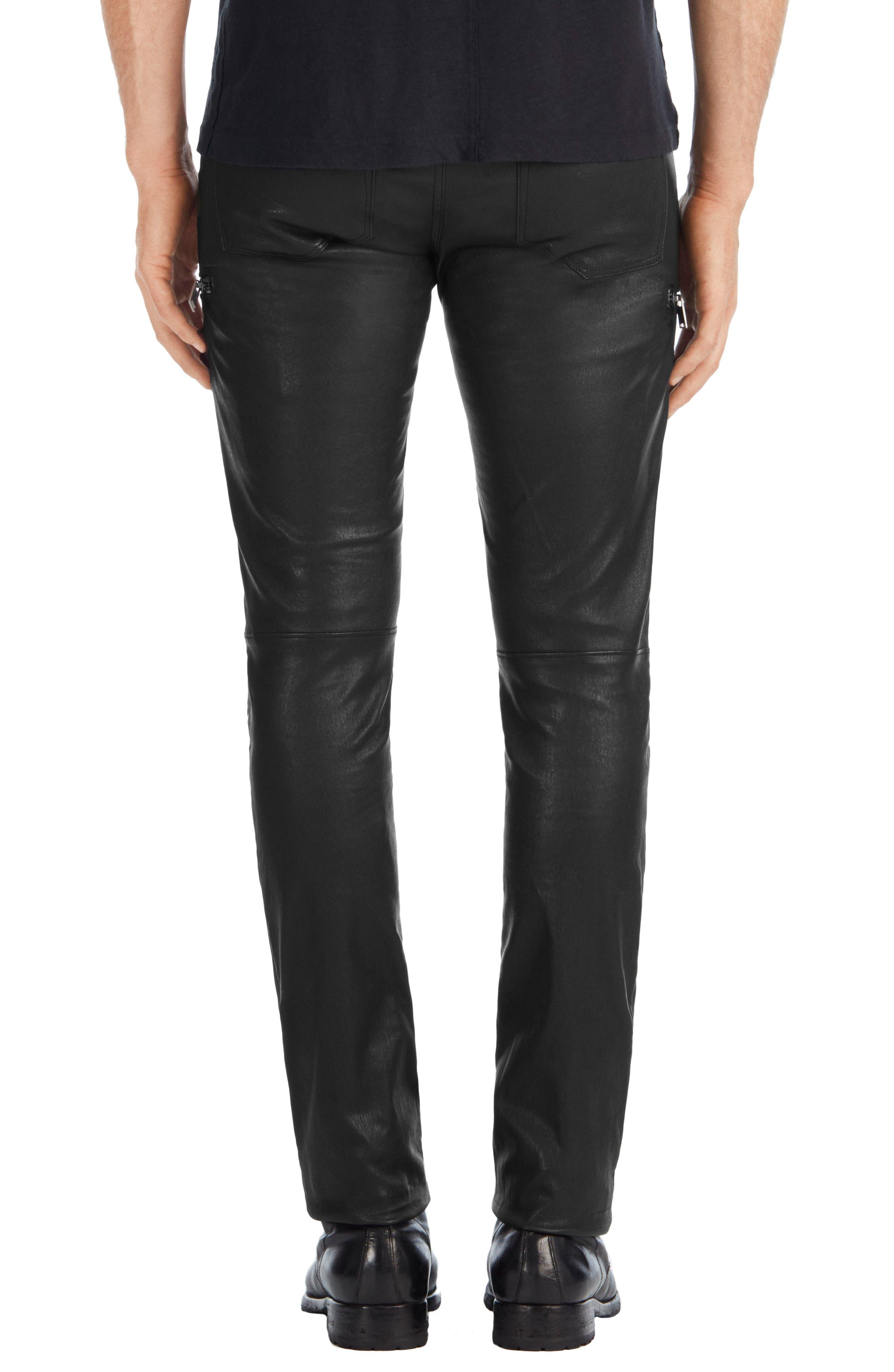 Acrux Skinny Leg Leather Pants,                             Alternate thumbnail 2, color,