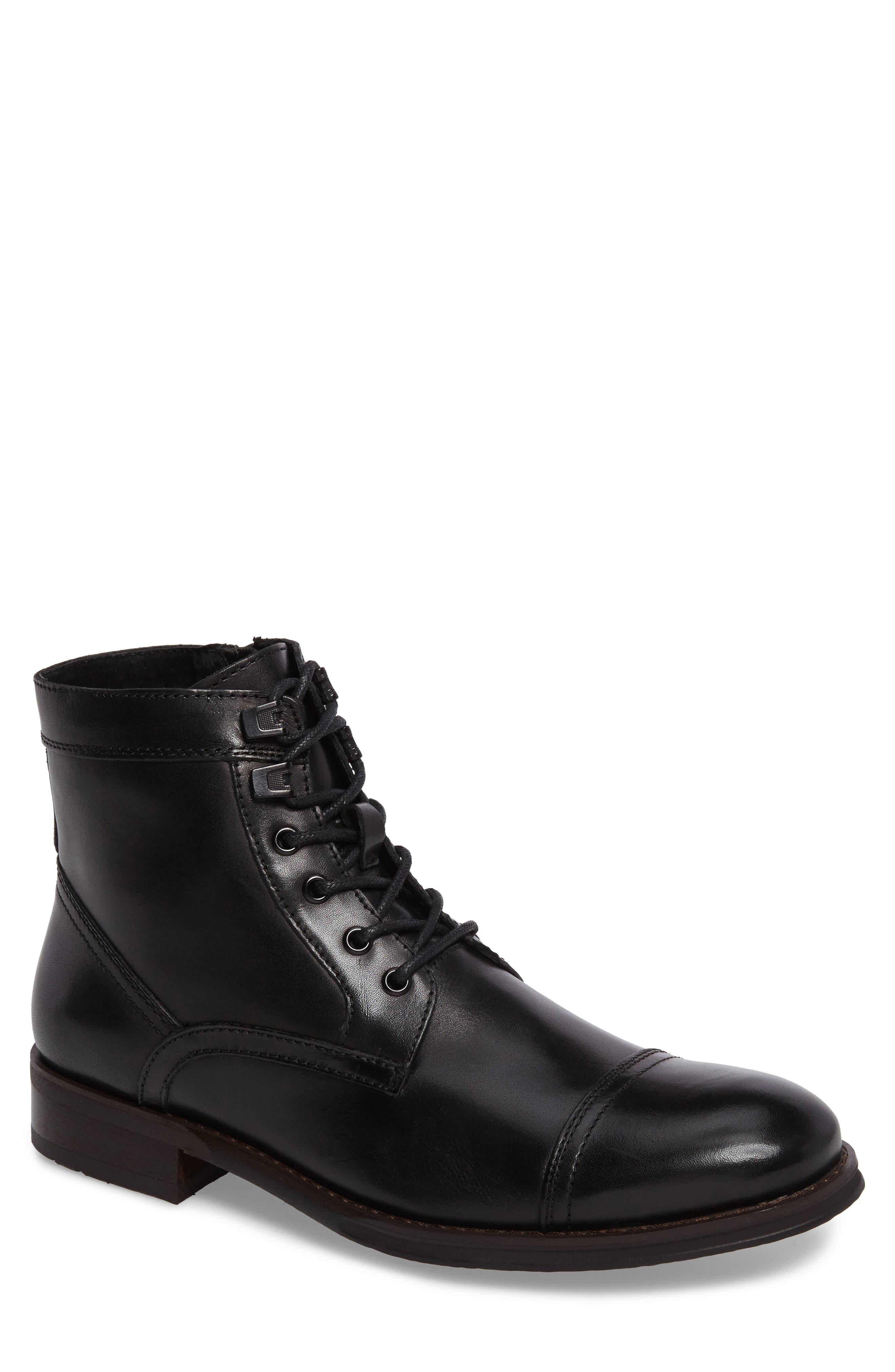 Cap Toe Boot,                         Main,                         color, 001