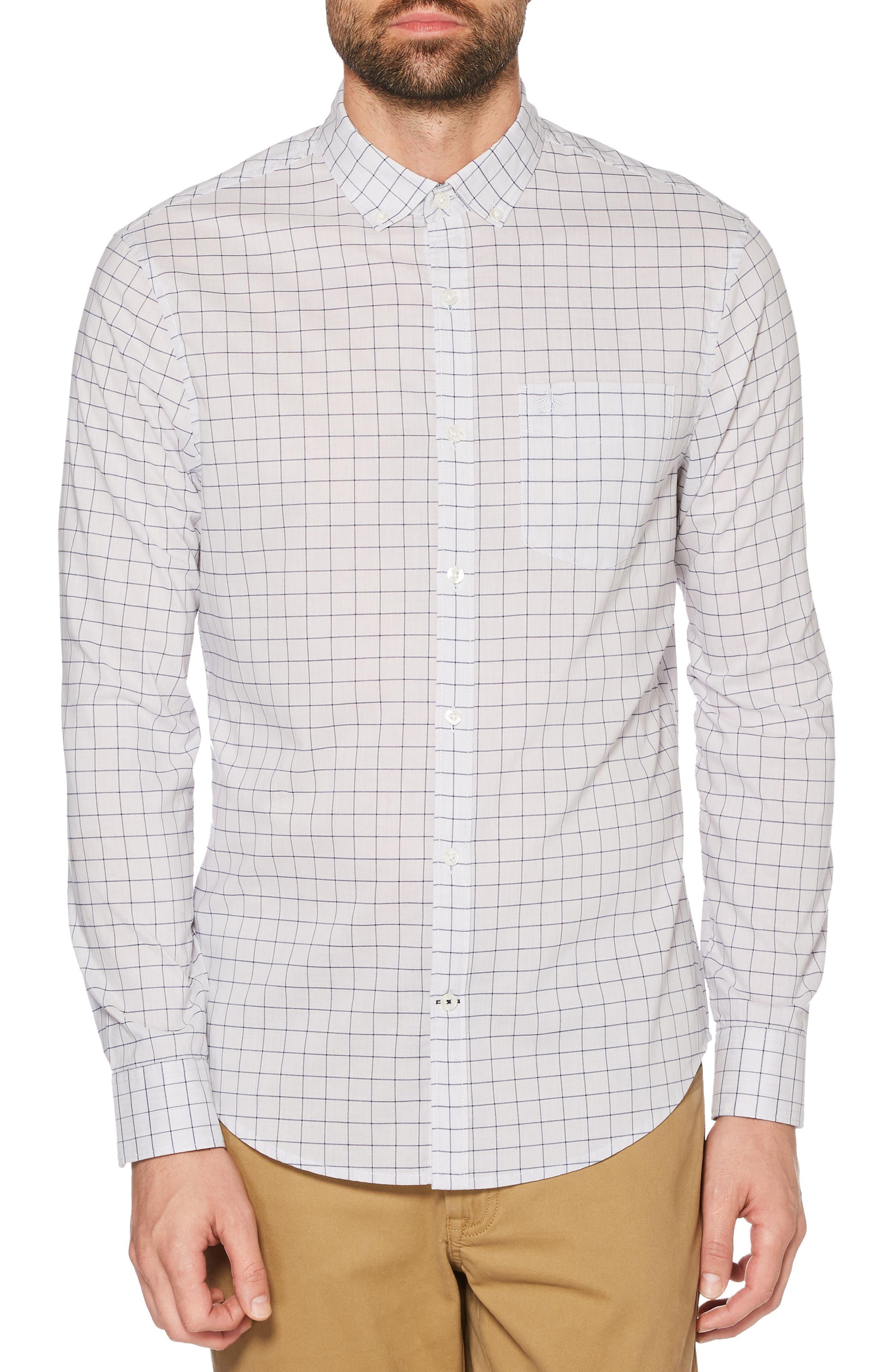 P55 Slim Fit Shirt,                             Main thumbnail 1, color,                             427