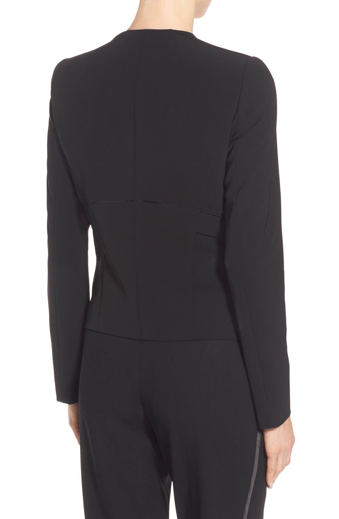 'Sukie' Sleek Tech Cloth Jacket,                             Alternate thumbnail 6, color,                             001