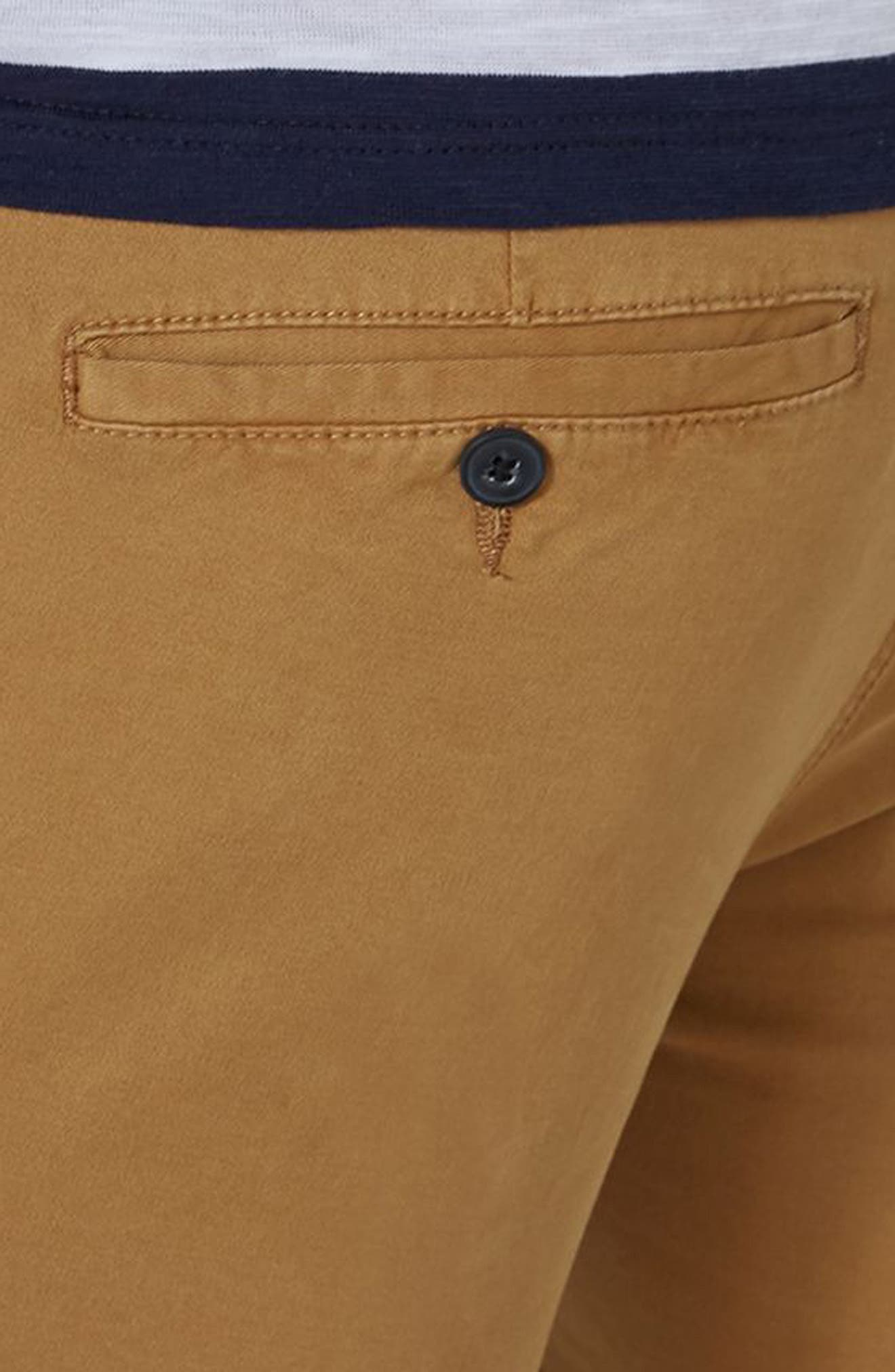 Stretch Skinny Chino Shorts,                             Alternate thumbnail 6, color,