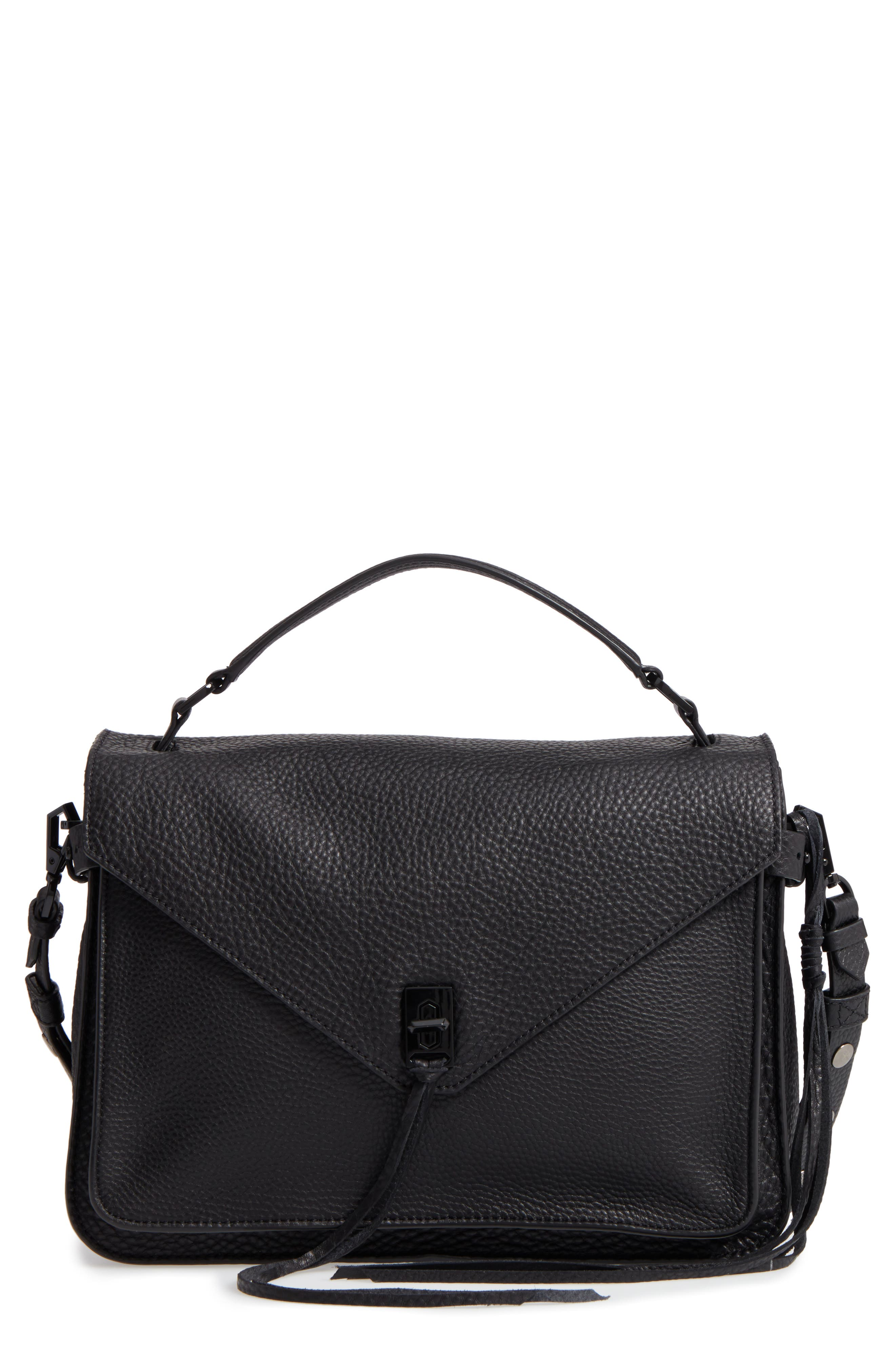 Darren Leather Messenger Bag,                             Main thumbnail 2, color,