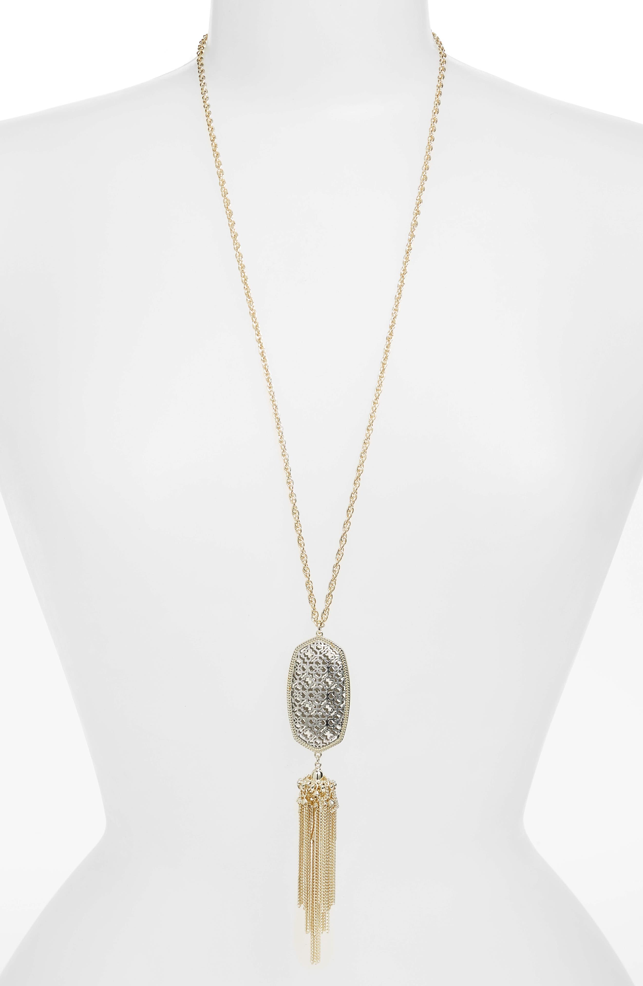 Rayne Stone Tassel Pendant Necklace,                             Main thumbnail 32, color,