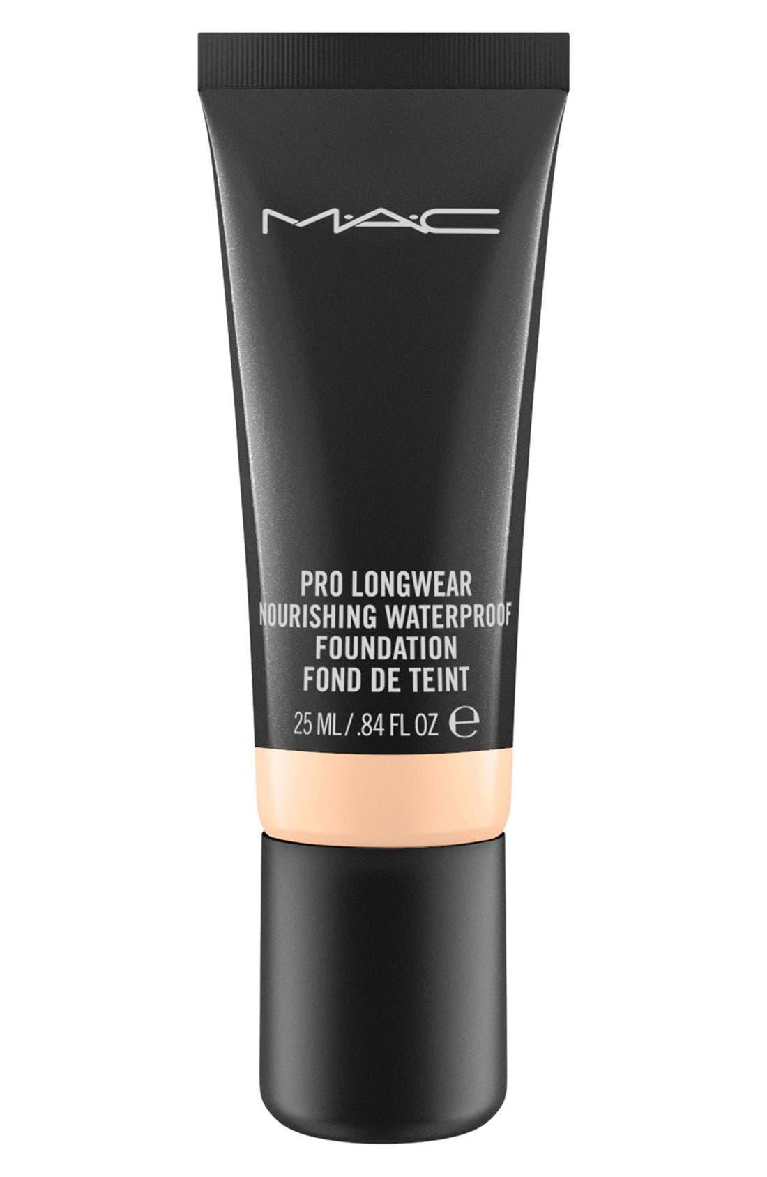 MAC Pro Longwear Nourishing Waterproof Foundation,                         Main,                         color, NC15