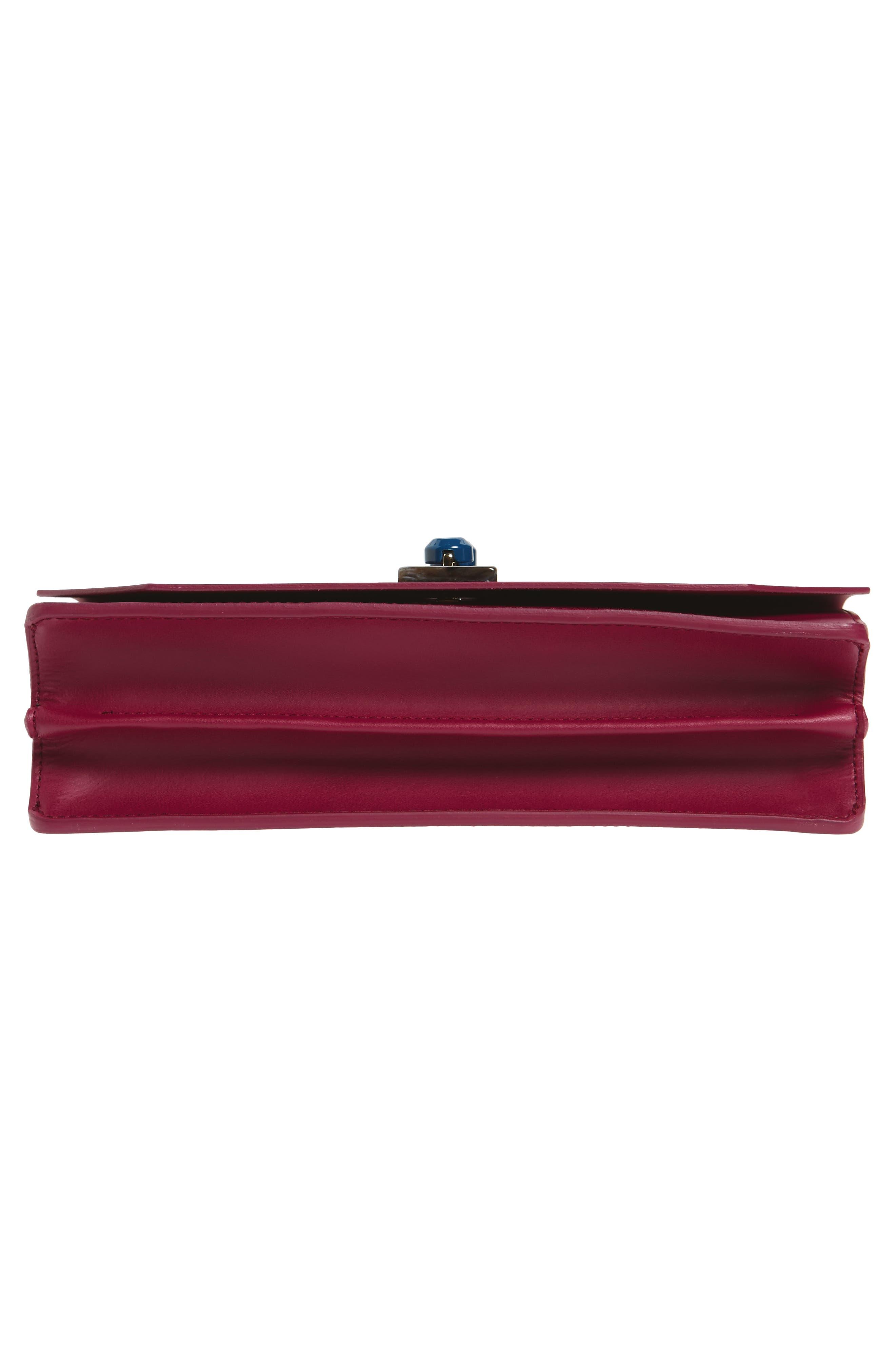 Snap Leather Shoulder Bag,                             Alternate thumbnail 6, color,                             609