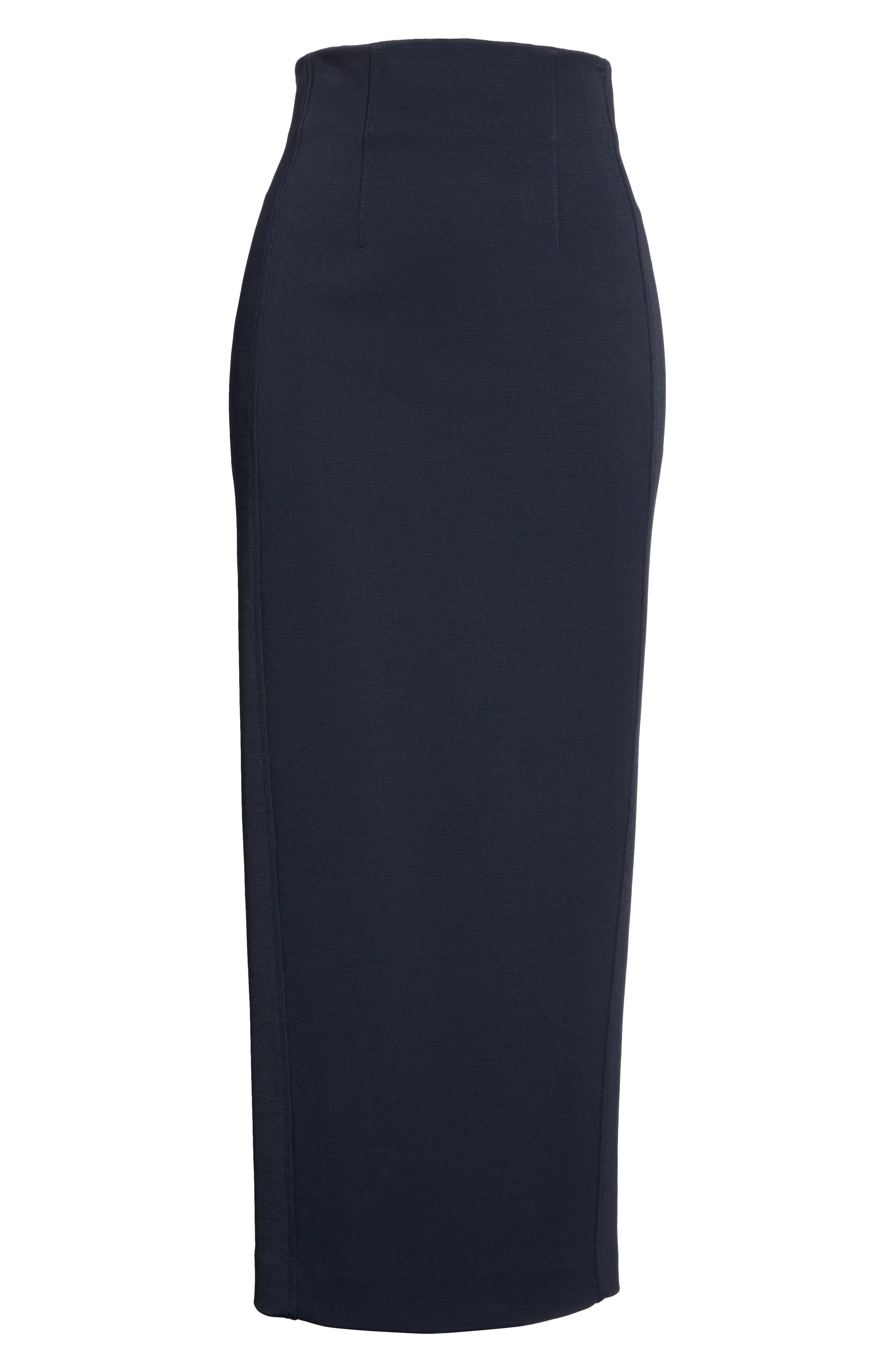 Diane von Furstenberg Fitted Midi Skirt,                             Alternate thumbnail 6, color,