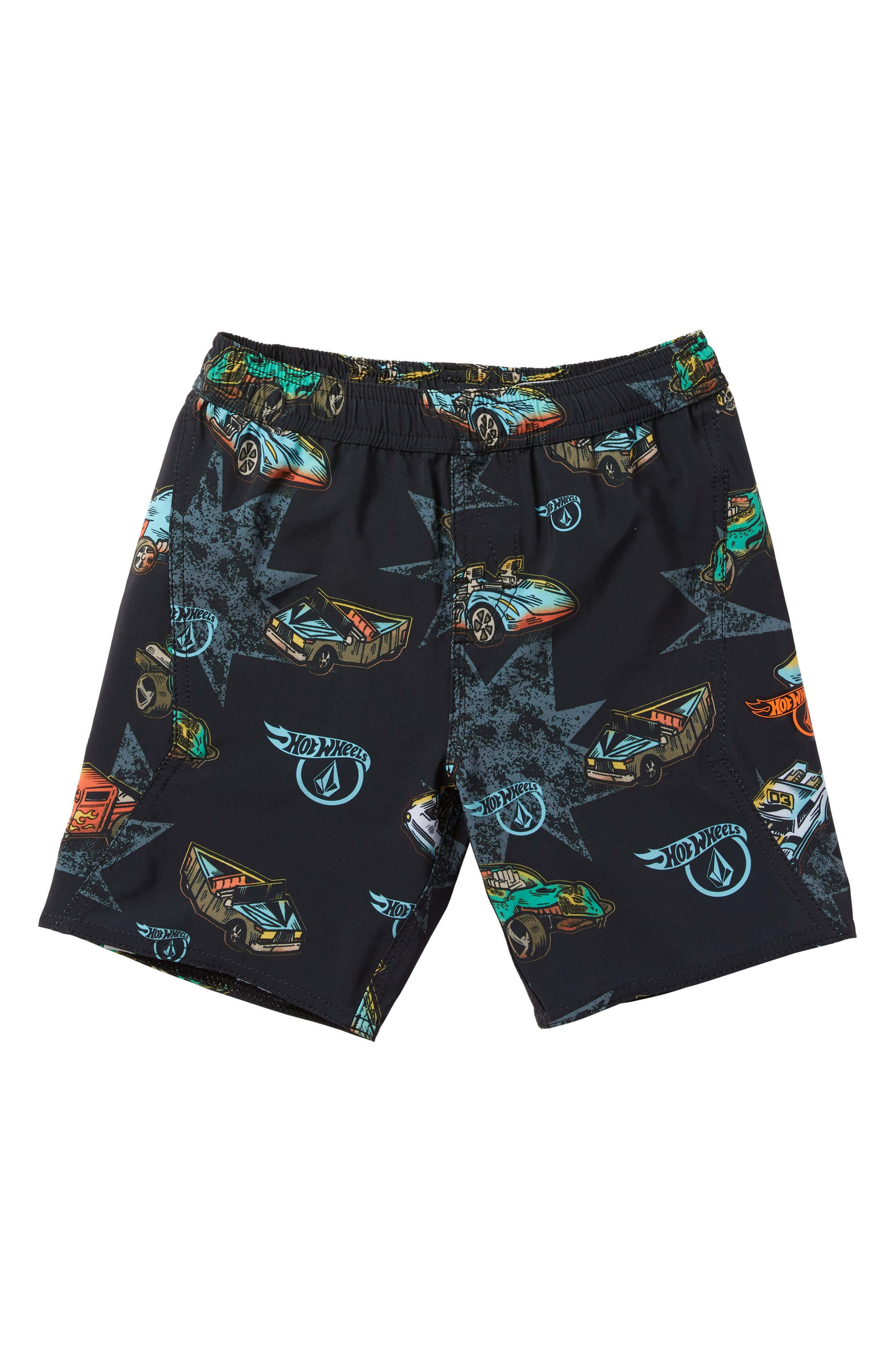 x Hot Wheels<sup>®</sup> Swim Trunks,                         Main,                         color, BLACK