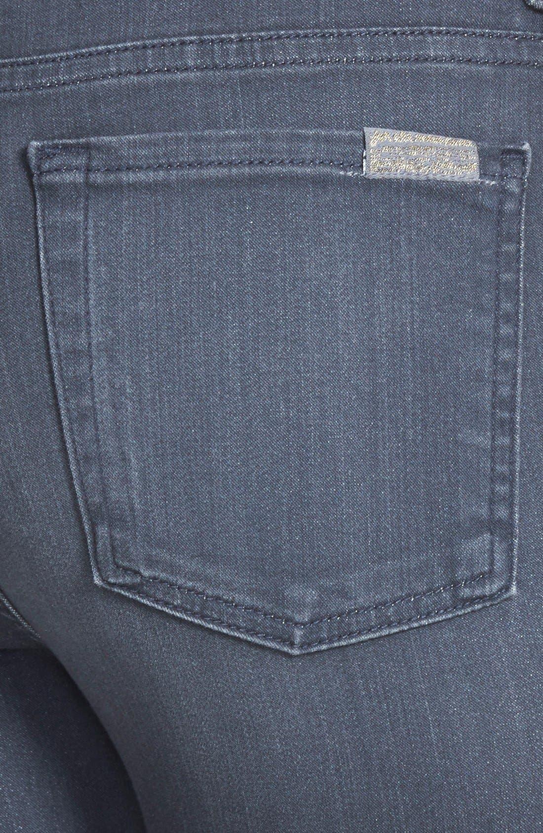 High Waist Ankle Skinny Jeans,                             Alternate thumbnail 4, color,                             BASTILLE GREY