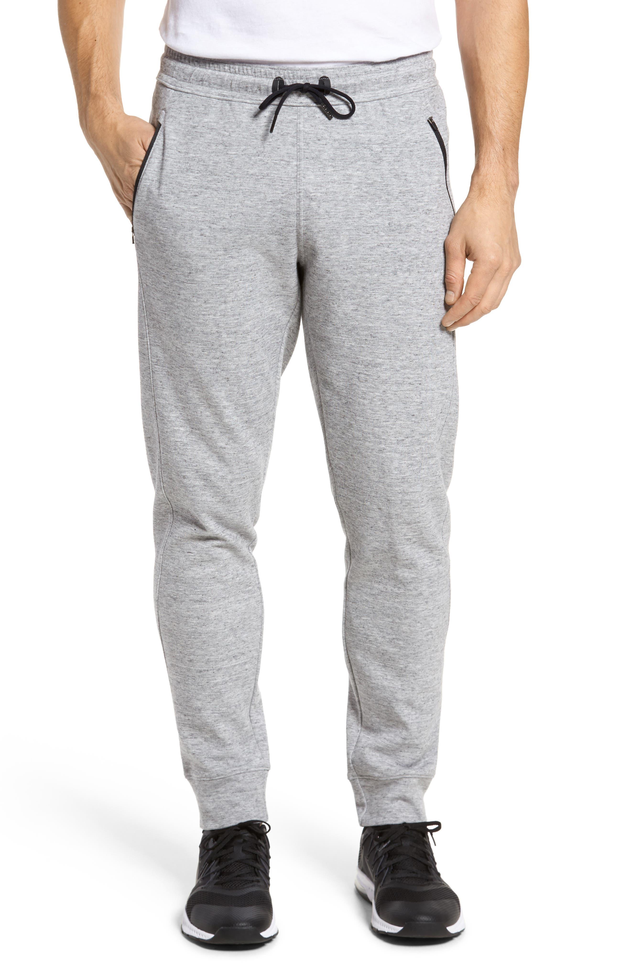 Magnetite Fleece Jogger Pants, Main, color, GREY ZINC MELANGE