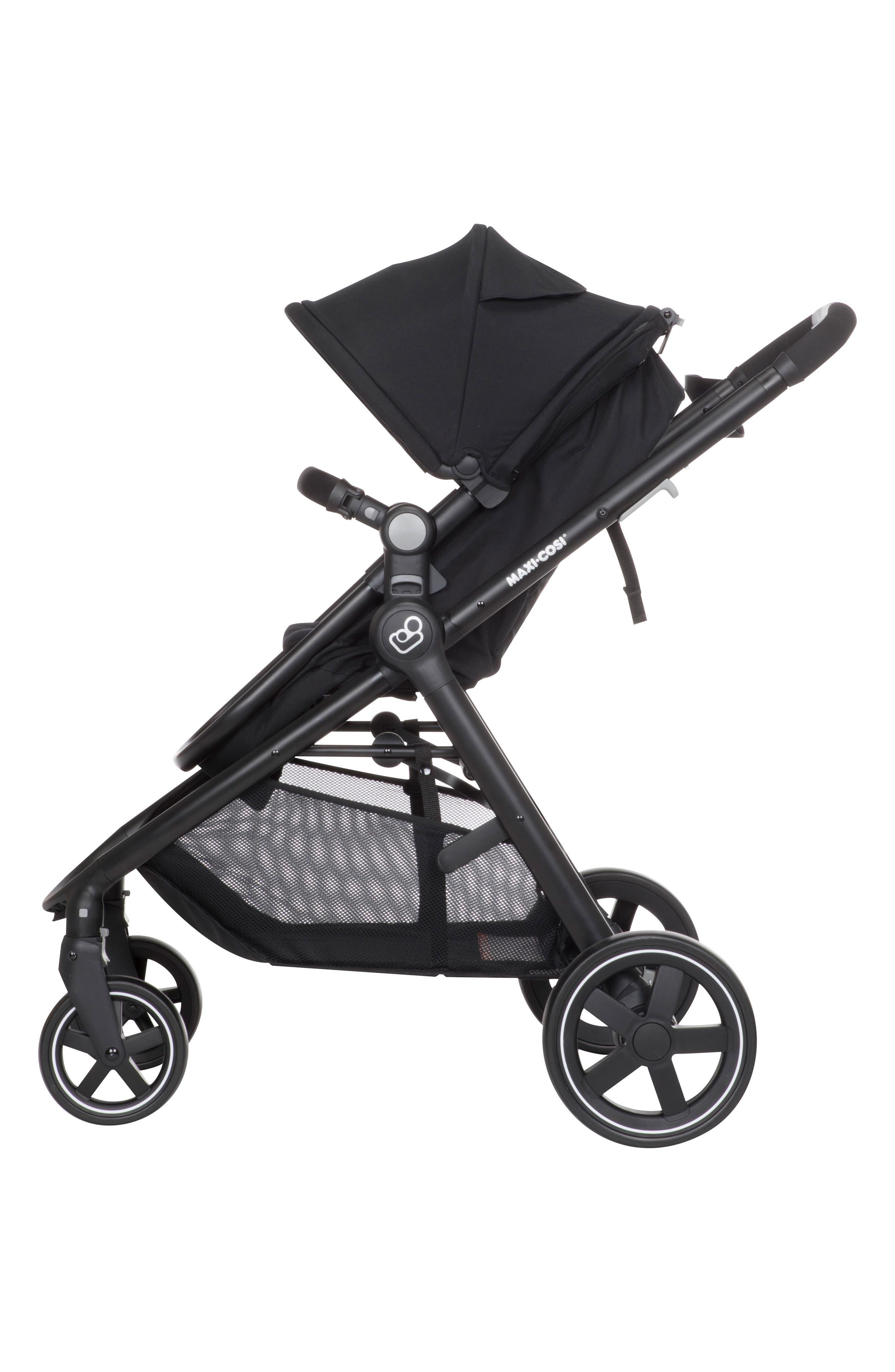 5-1 Mico 30 Infant Car Seat & Zelia Stroller Modular Travel System,                             Alternate thumbnail 11, color,                             NIGHT BLACK