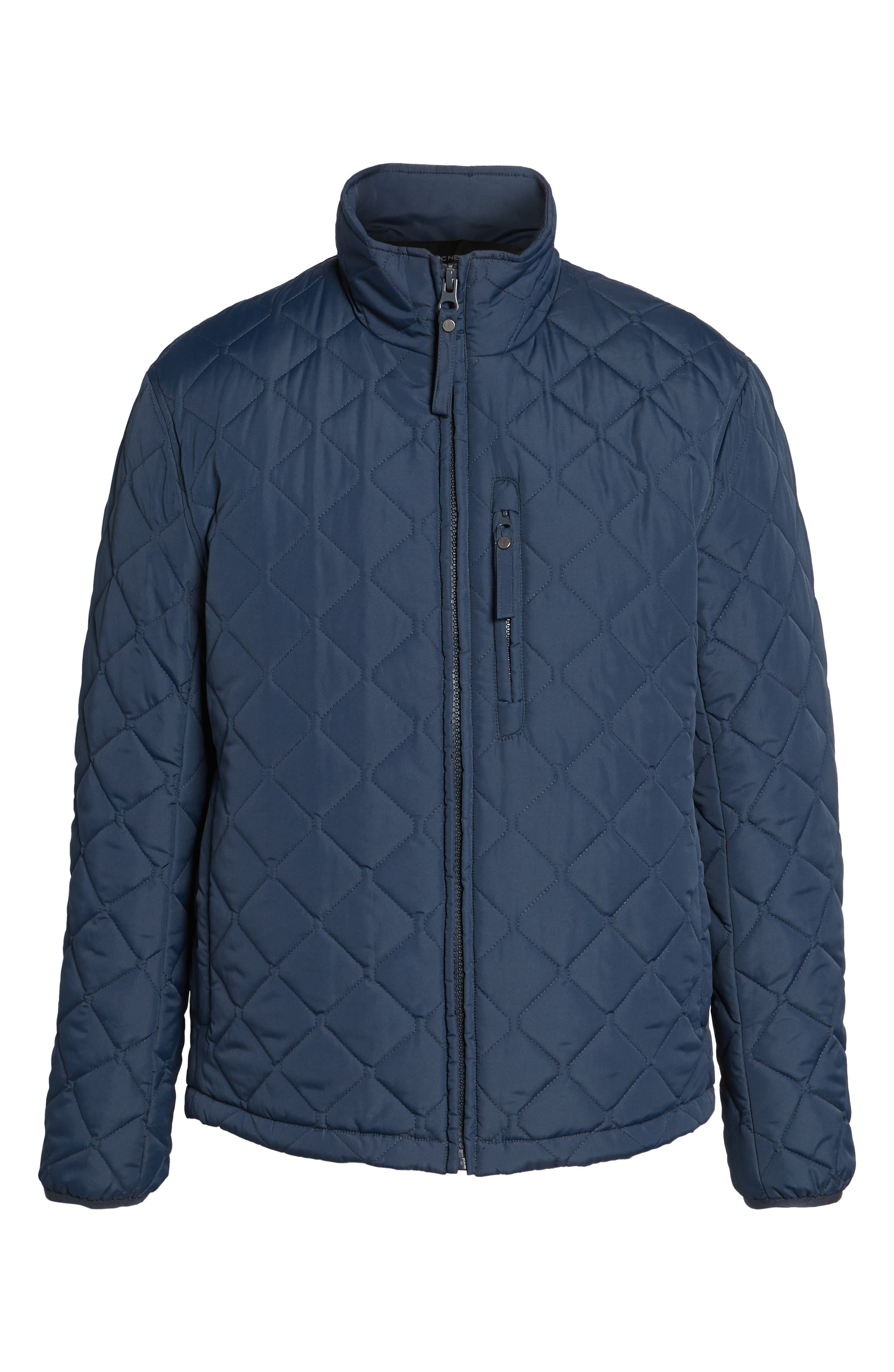 Faux Shearling Lined Quilted Jacket,                             Alternate thumbnail 10, color,