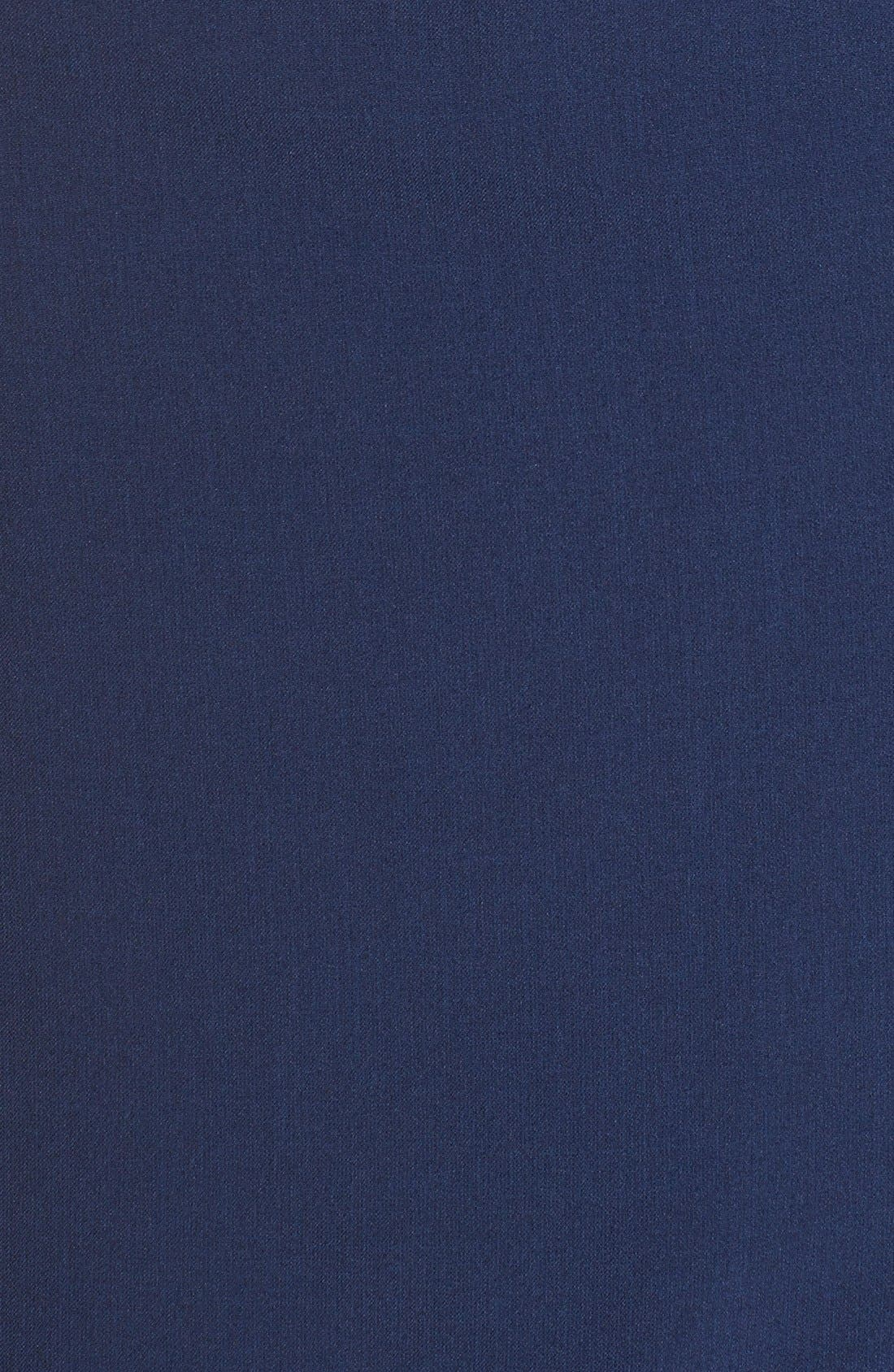 Drape Neck Crepe Sheath Dress,                             Alternate thumbnail 2, color,                             401