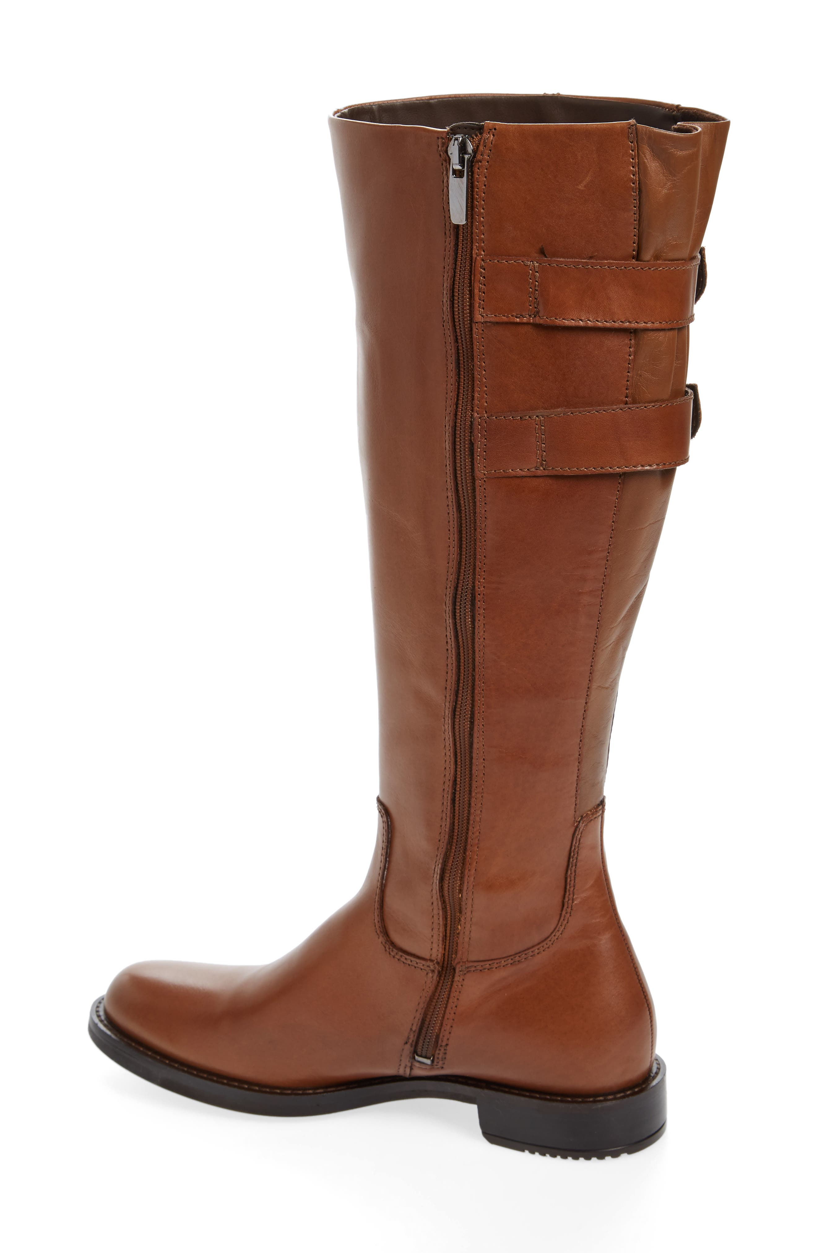 Shape 25 Tall Buckle Boot,                             Alternate thumbnail 2, color,                             CAMEL LEATHER