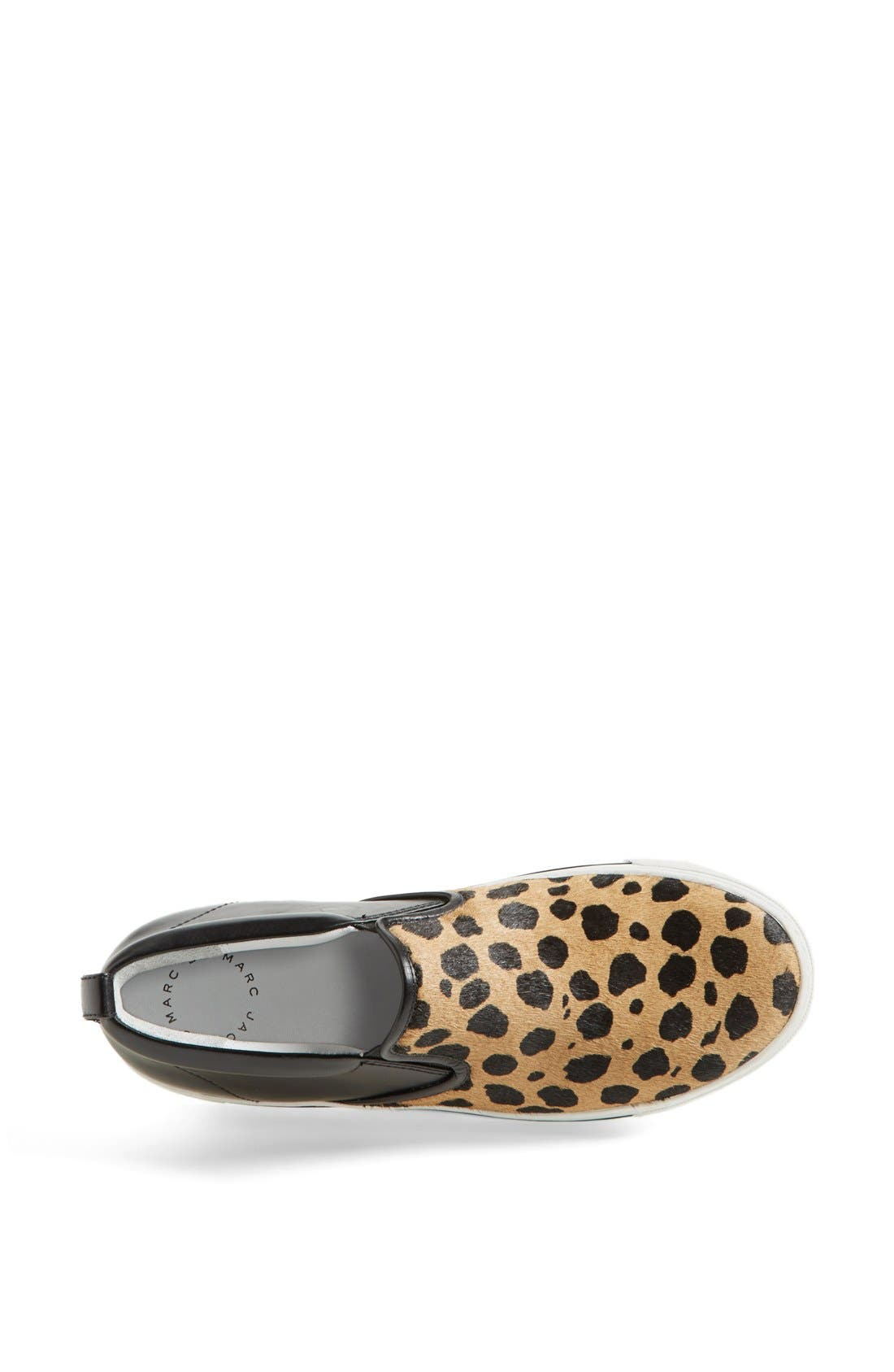 MARC BY MARC JACOBS Leather & Calf Hair Slip-On Sneaker,                             Alternate thumbnail 4, color,