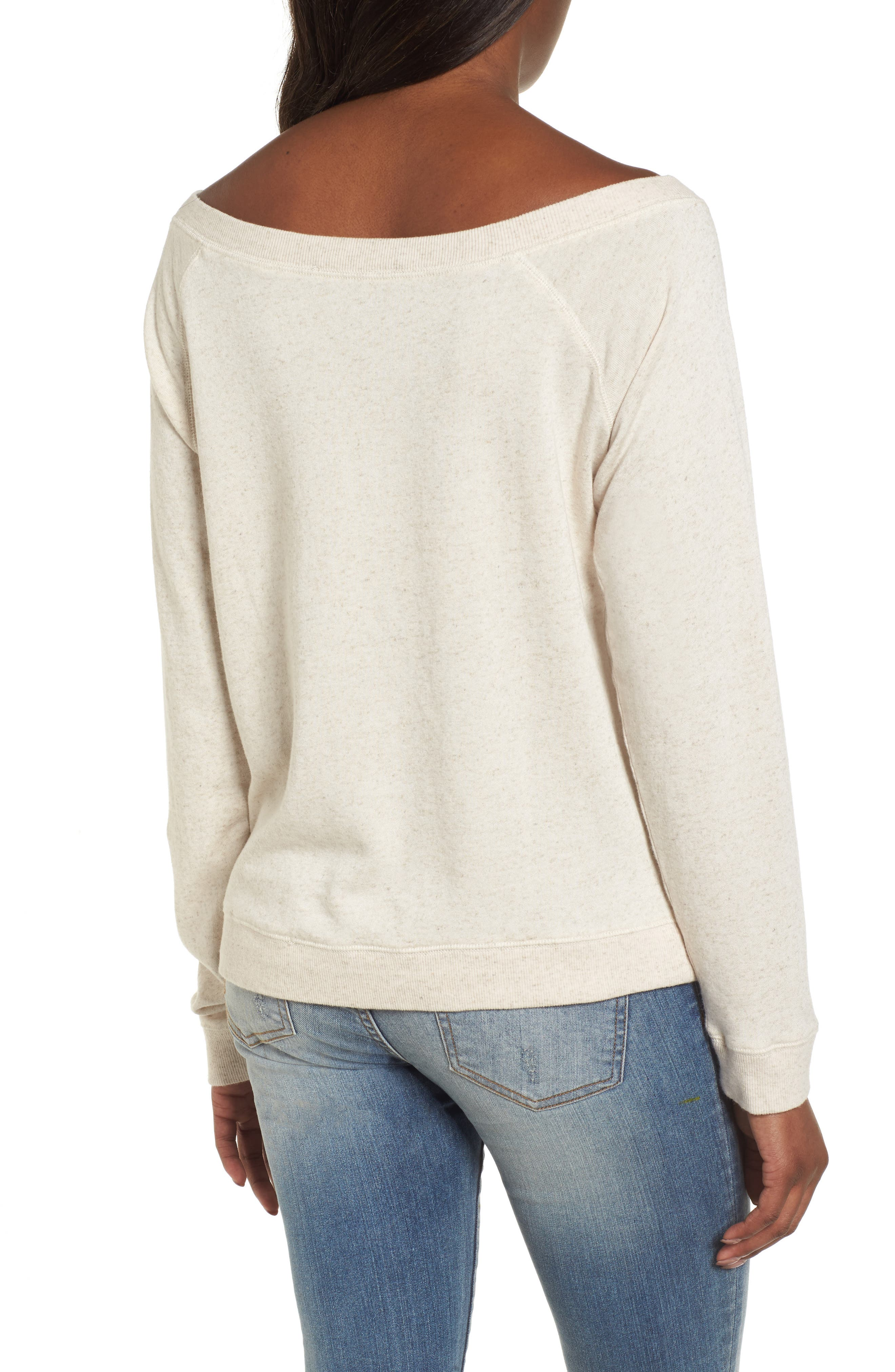 Embroidered Rose Sweatshirt,                             Alternate thumbnail 2, color,                             901