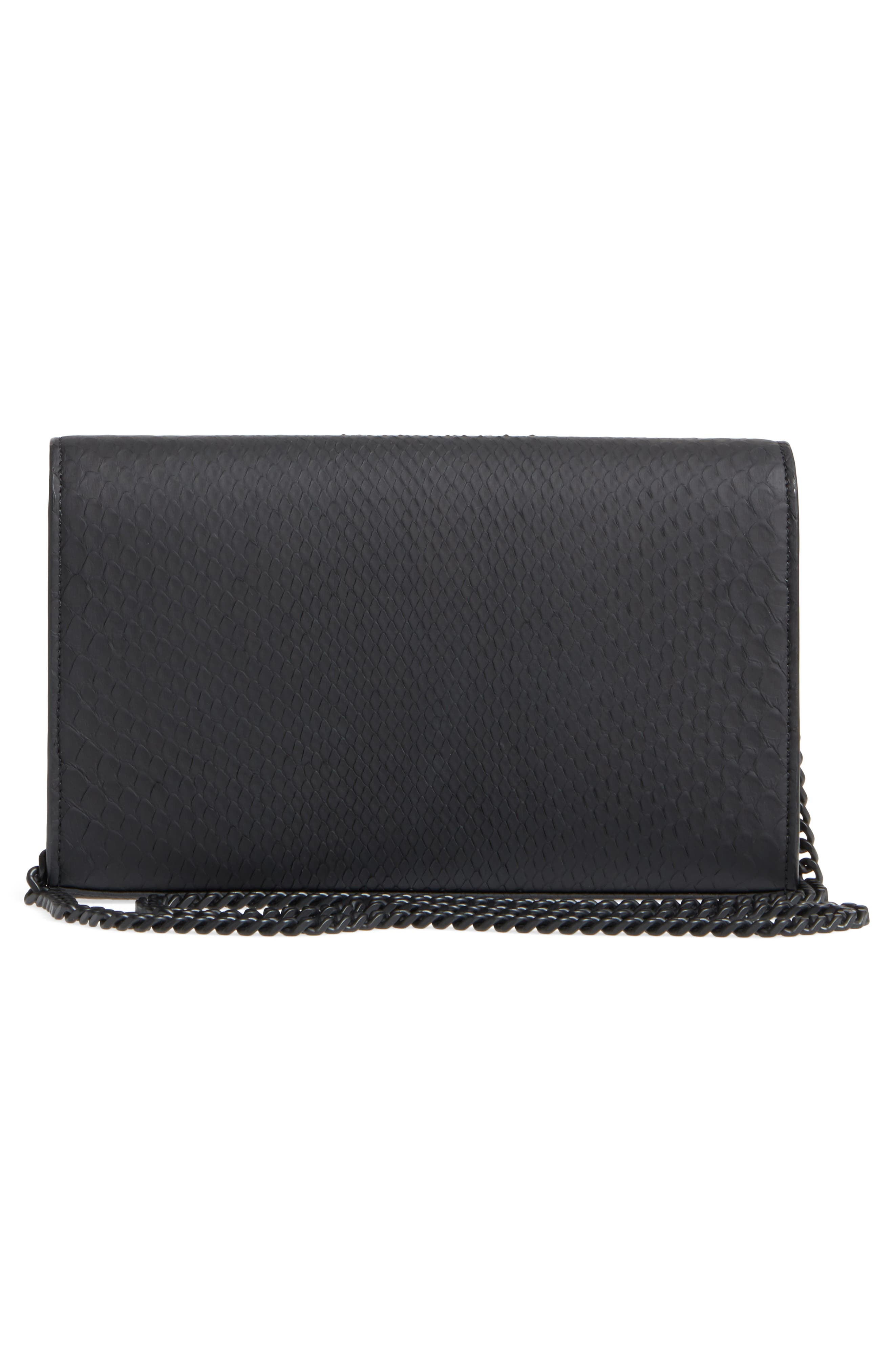 Monogram Genuine Python Wallet on a Chain,                             Alternate thumbnail 3, color,                             NOIR