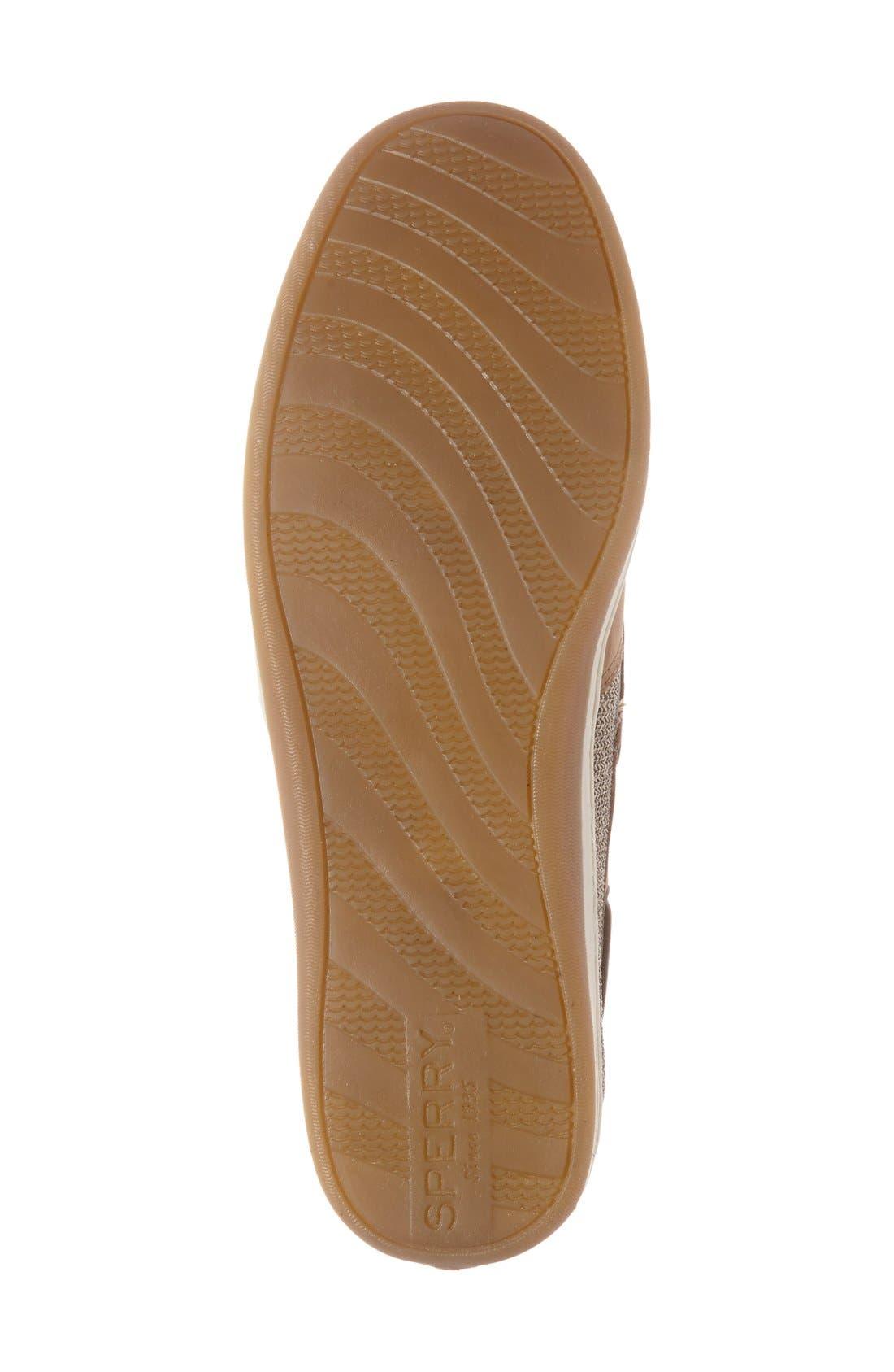 'Songfish' Boat Shoe,                             Alternate thumbnail 4, color,                             LINEN/ OAT LEATHER