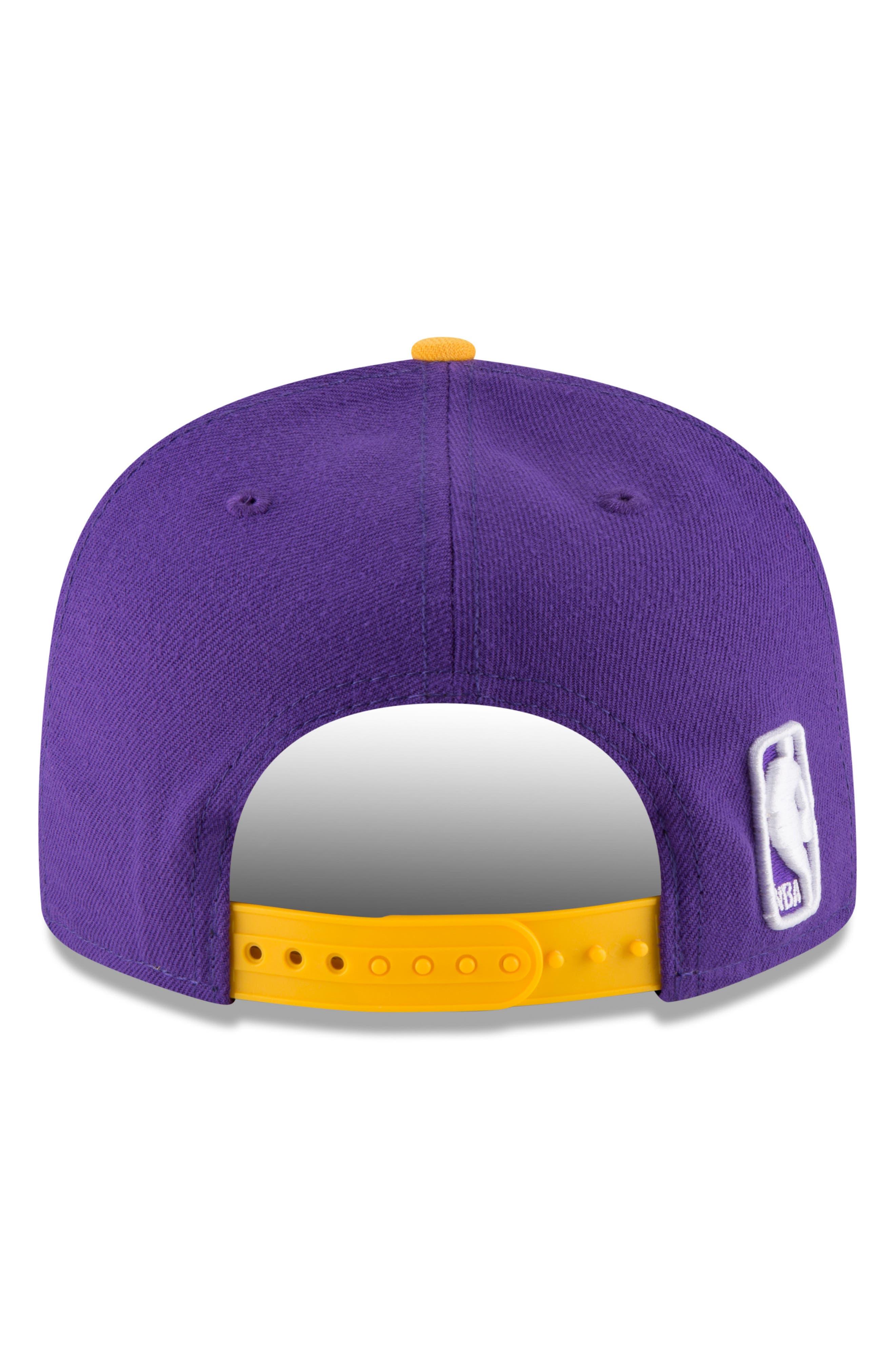9FIFTY LA Lakers Two-Tone Cap,                             Alternate thumbnail 3, color,                             PURPLE