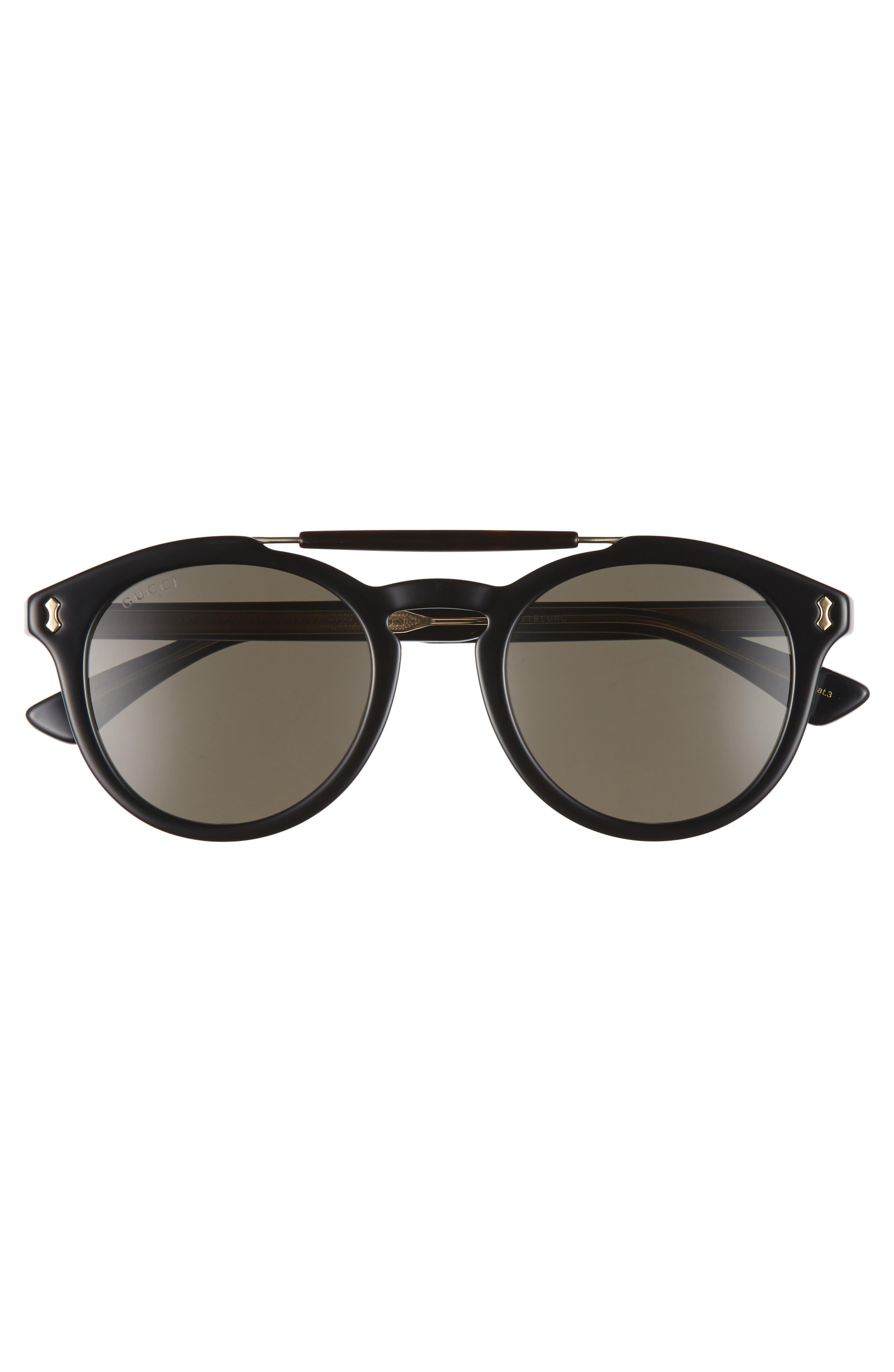 Vintage Pilot 50mm Sunglasses,                             Alternate thumbnail 2, color,                             001