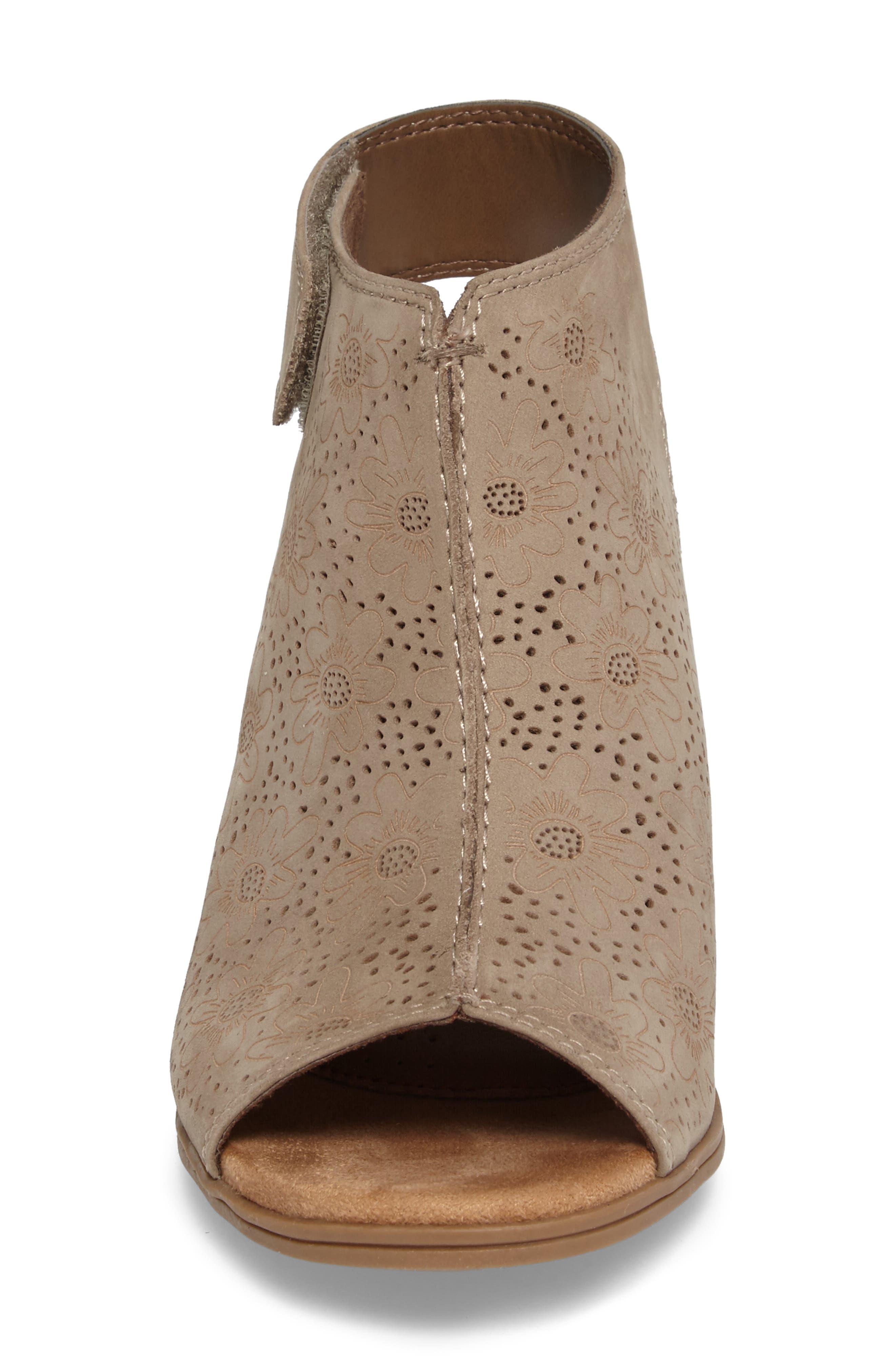 Hattie Perforated Slingback Sandal,                             Alternate thumbnail 4, color,                             KHAKI NUBUCK