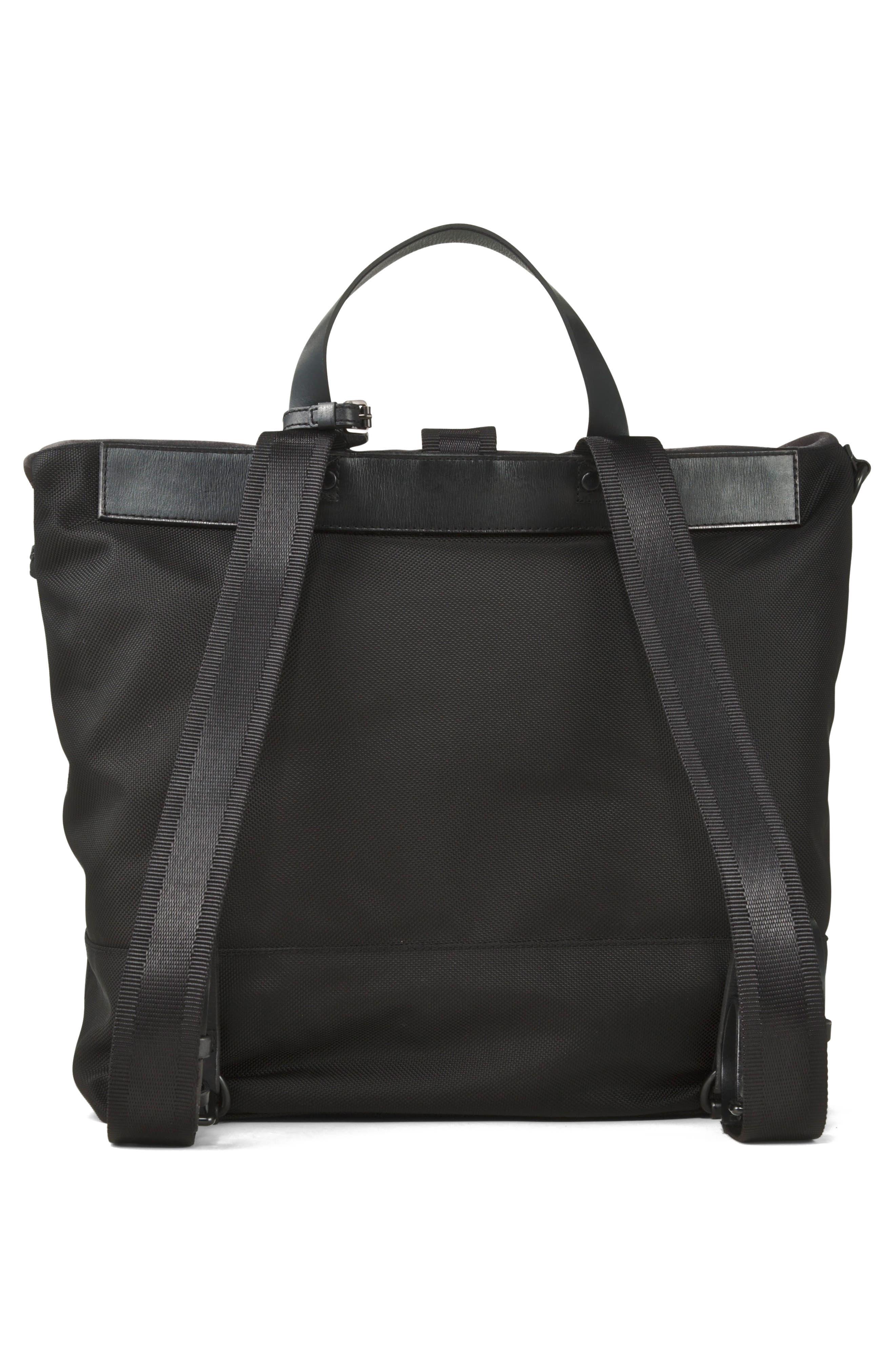 Suede & Ballistic Nylon Backpack,                             Alternate thumbnail 2, color,