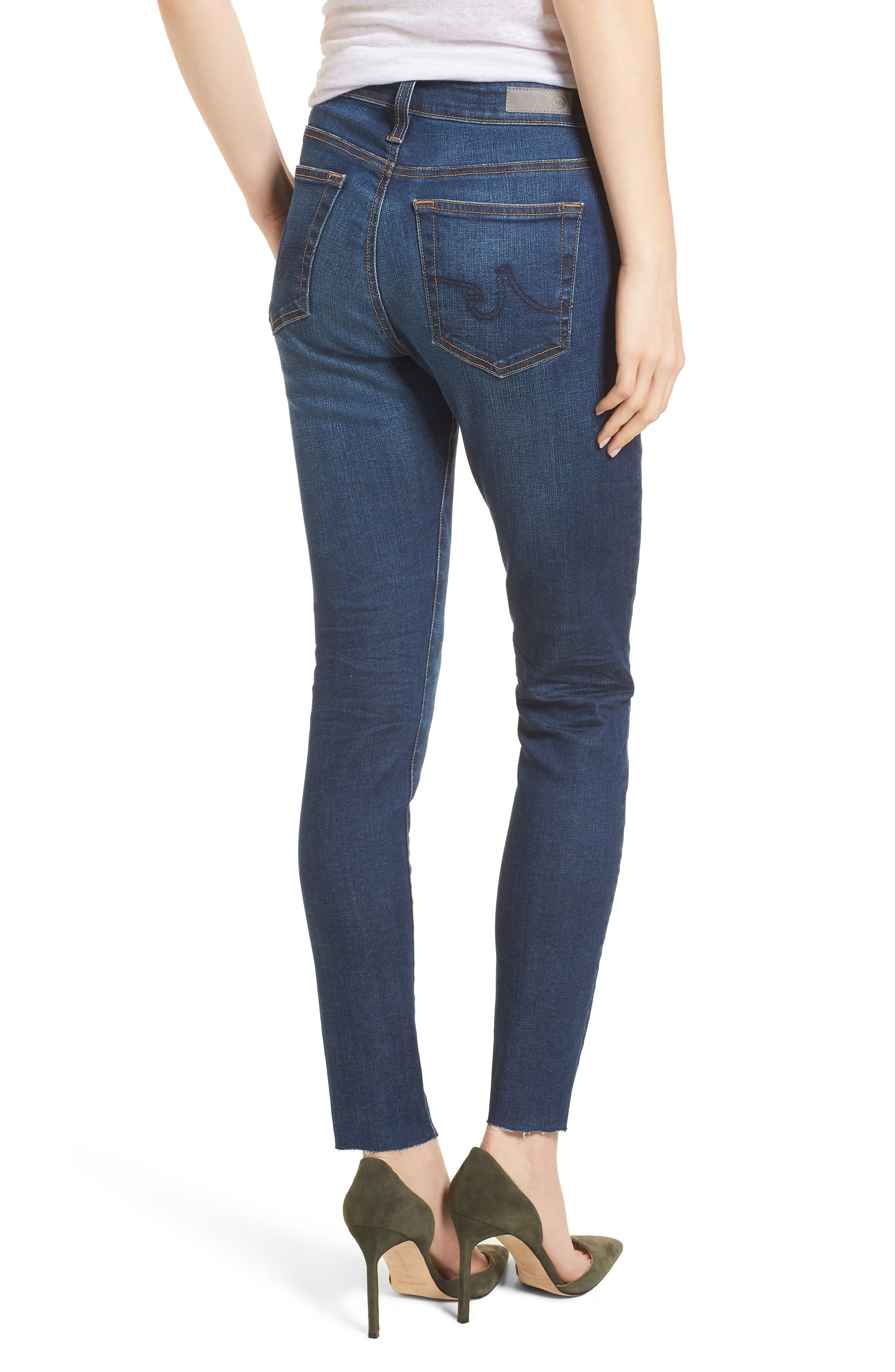 The Farrah High Waist Ankle Skinny Jeans,                             Alternate thumbnail 2, color,                             7 YEAR CHASM
