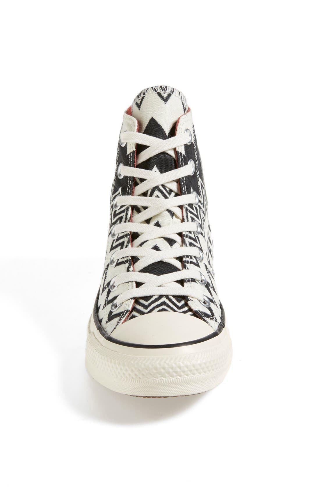 x Missoni Chuck Taylor<sup>®</sup> All Star<sup>®</sup> High Top Sneaker,                             Alternate thumbnail 4, color,                             001