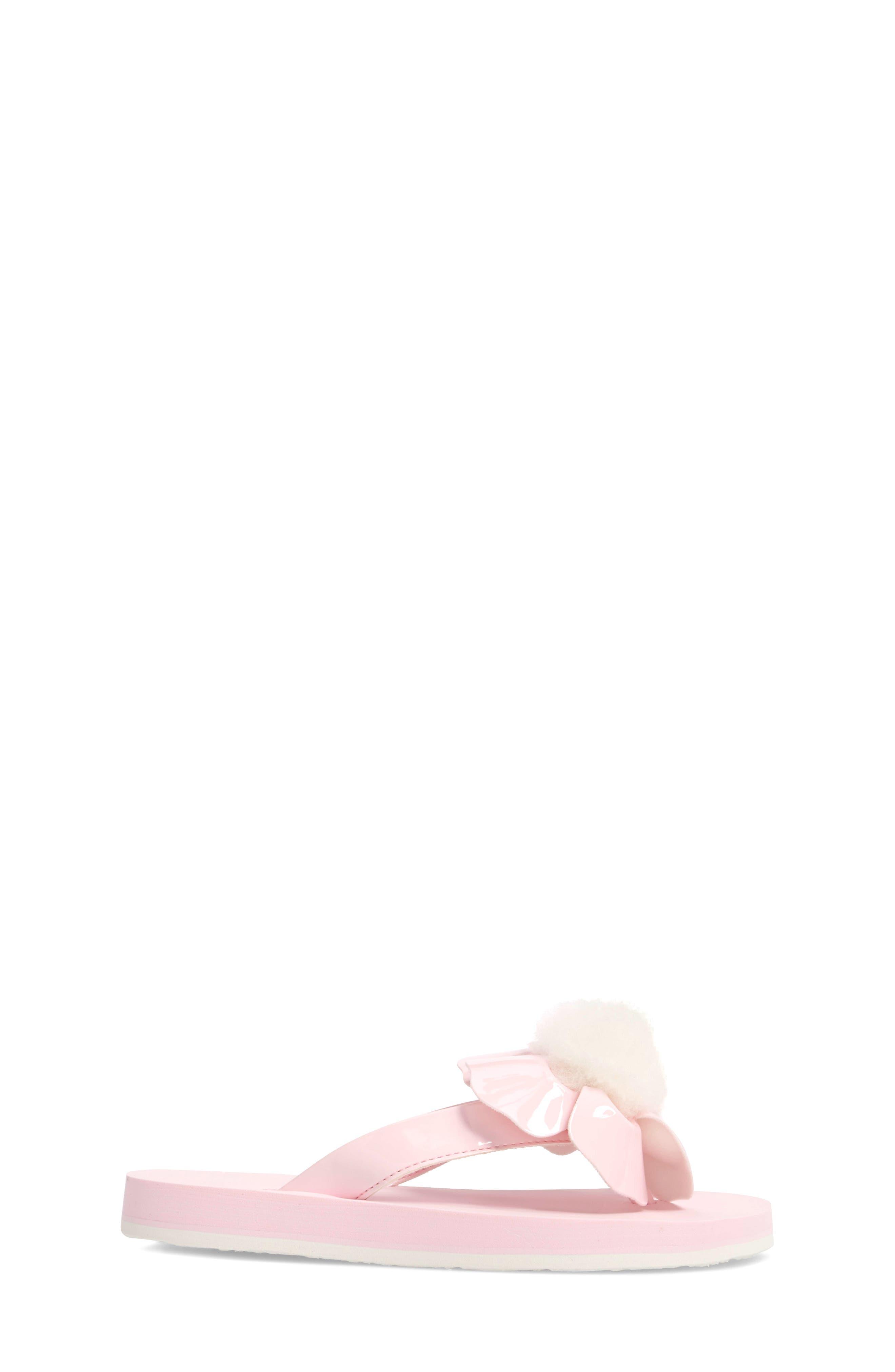 Poppy Genuine Shearling Flip Flop,                             Alternate thumbnail 8, color,