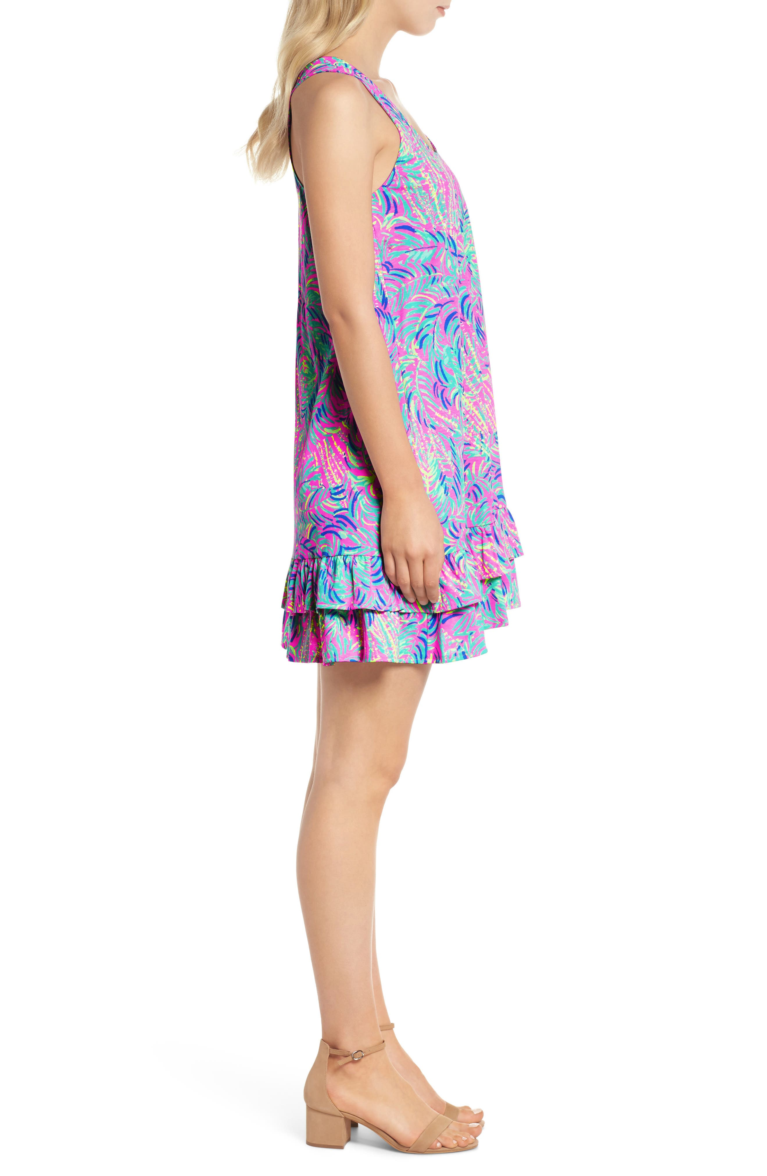 Evangelia Sleeveless Racerback Dress,                             Alternate thumbnail 3, color,                             650