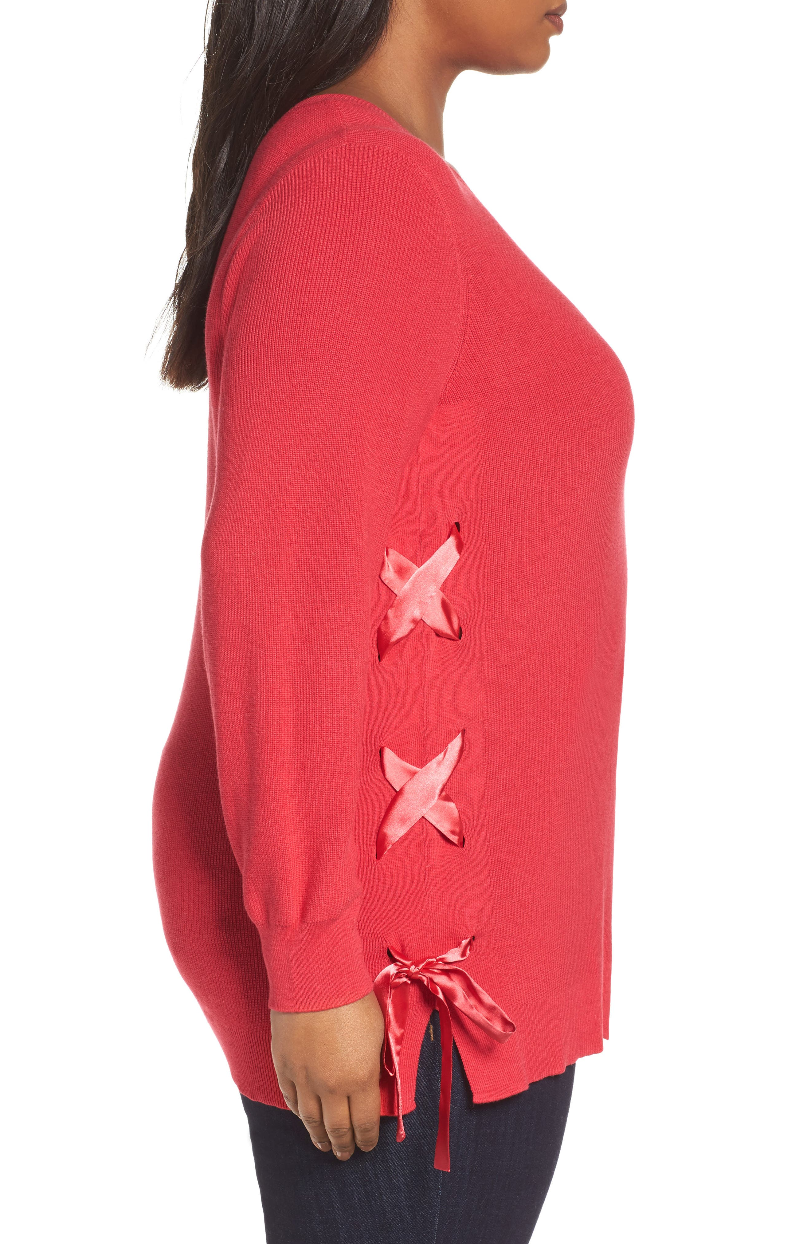 Lace-Up Pullover,                             Alternate thumbnail 9, color,