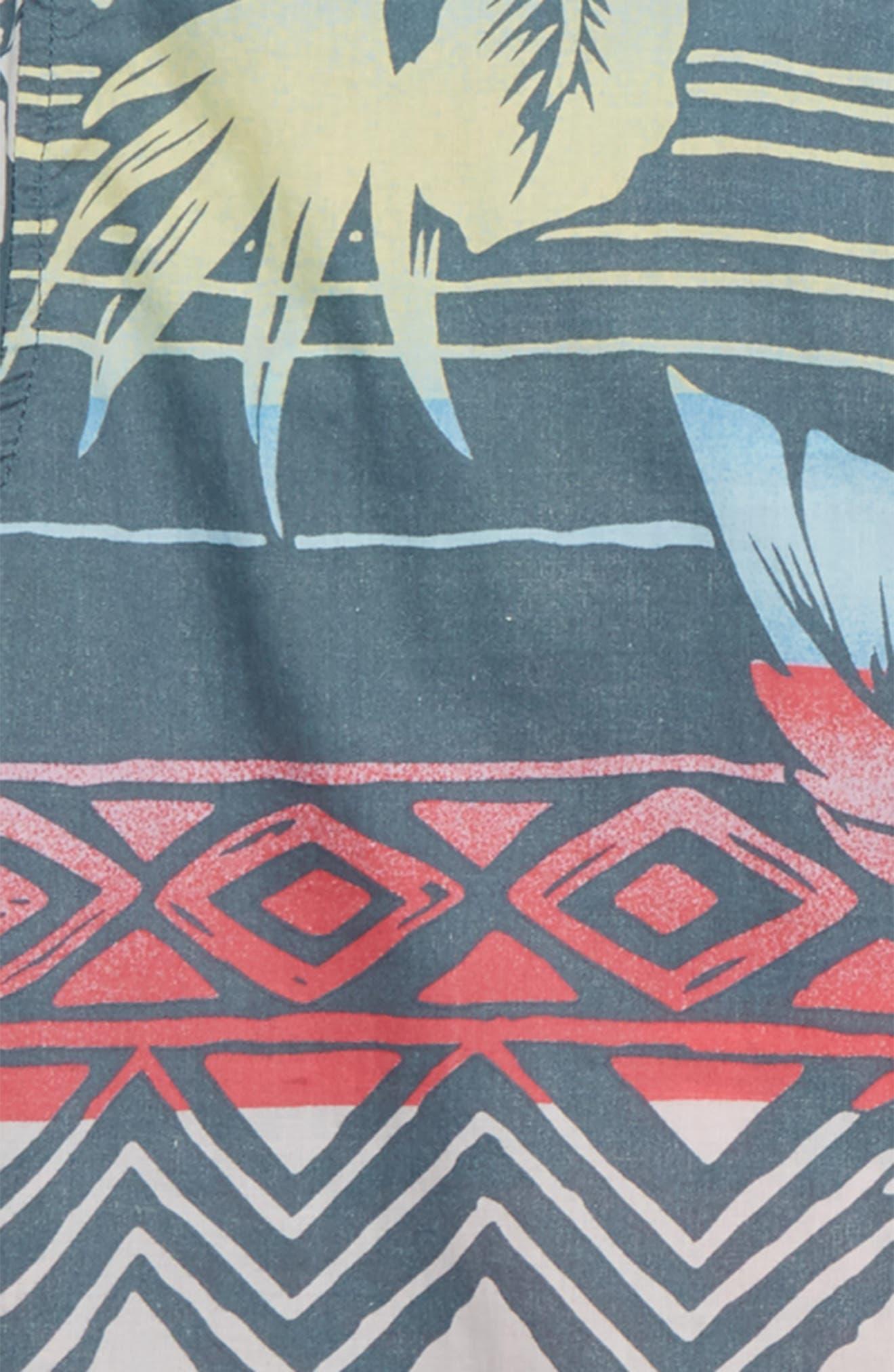 Sundays Floral Camp Shirt,                             Alternate thumbnail 2, color,                             CHARCOAL