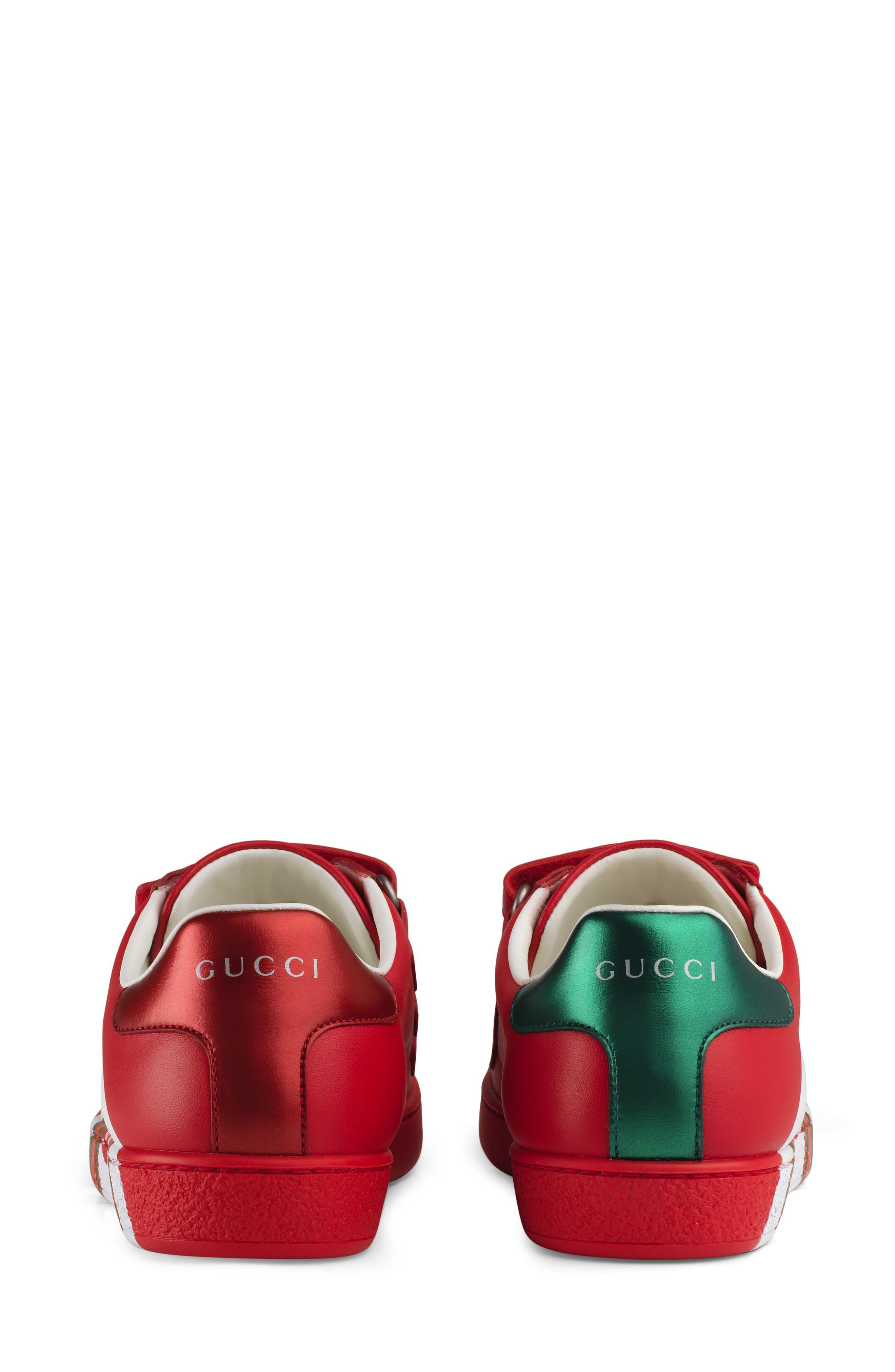 New Ace Sneaker,                             Alternate thumbnail 5, color,                             RED
