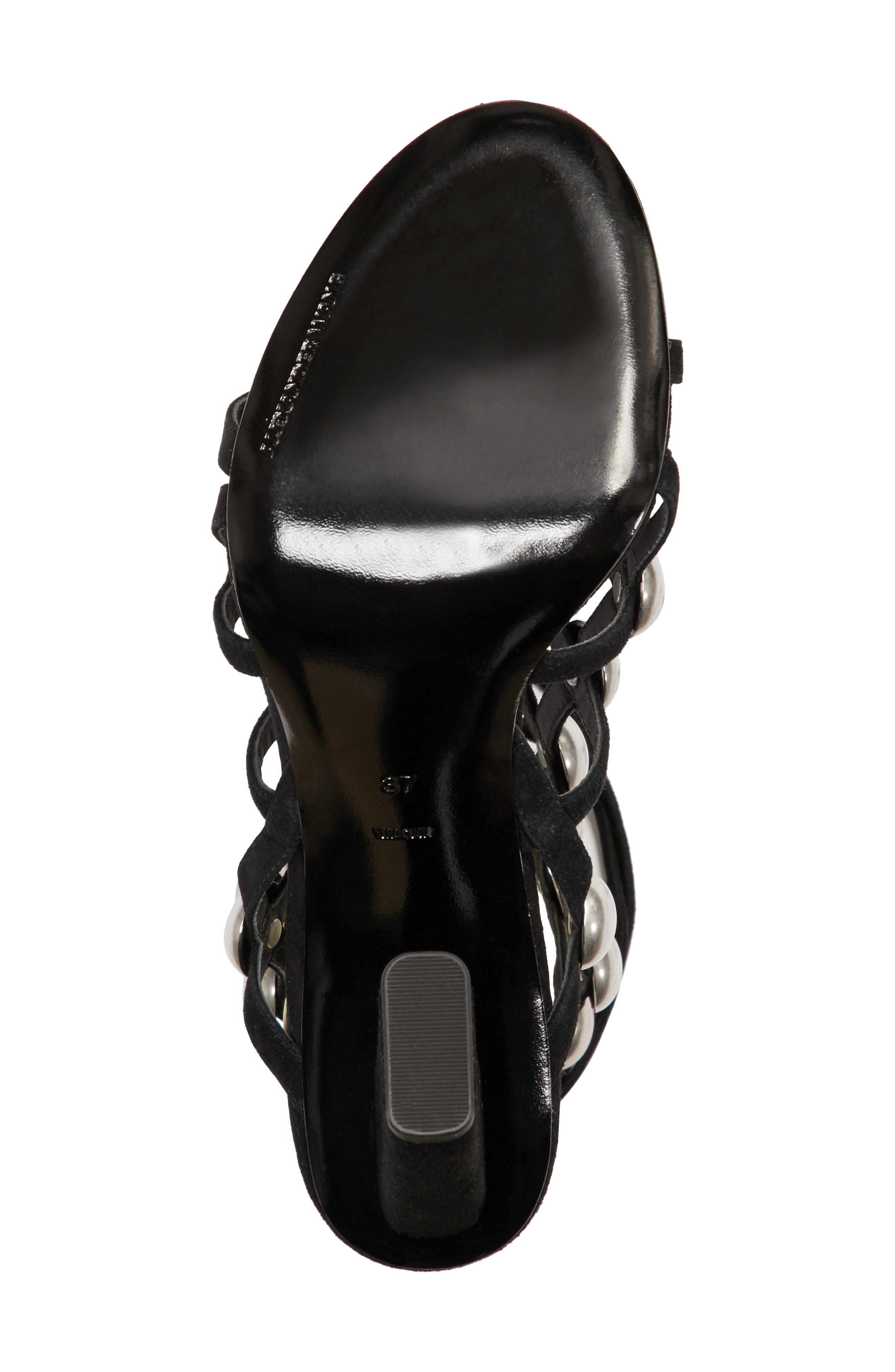 Rubie Studded Sandal,                             Alternate thumbnail 6, color,                             001