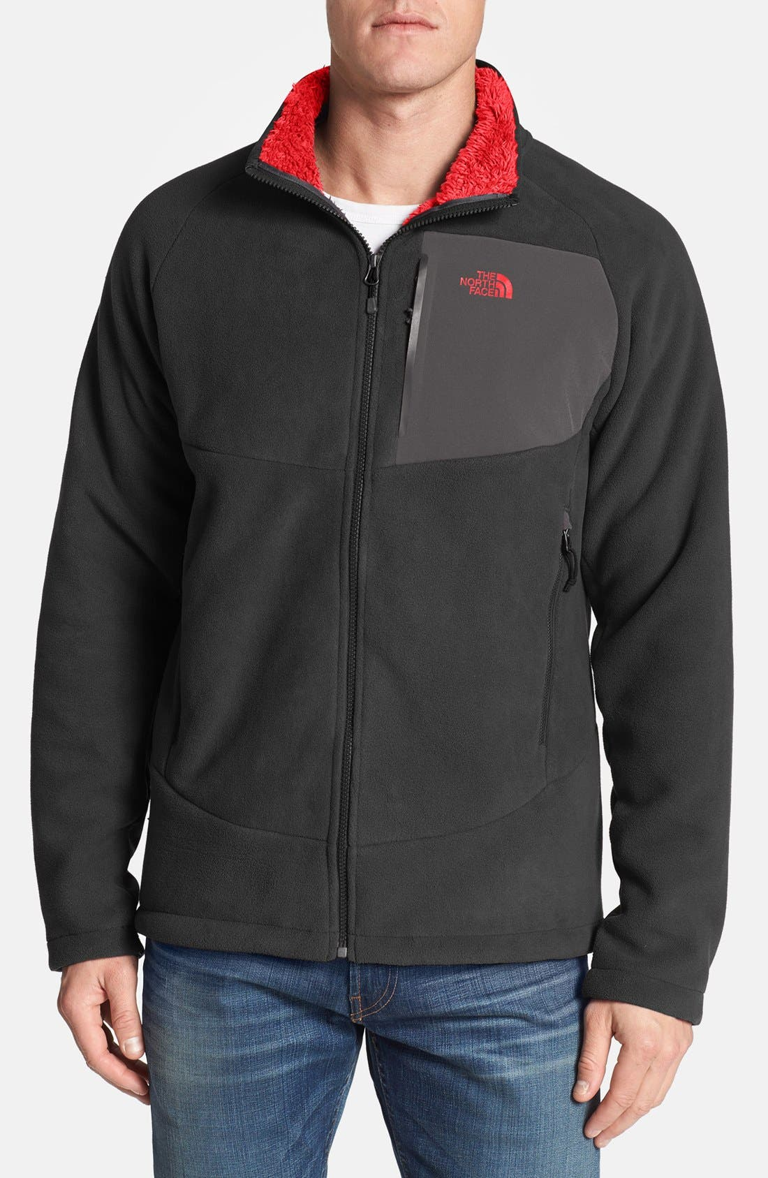 'Chimborazo' Zip Front Fleece Jacket,                             Main thumbnail 4, color,