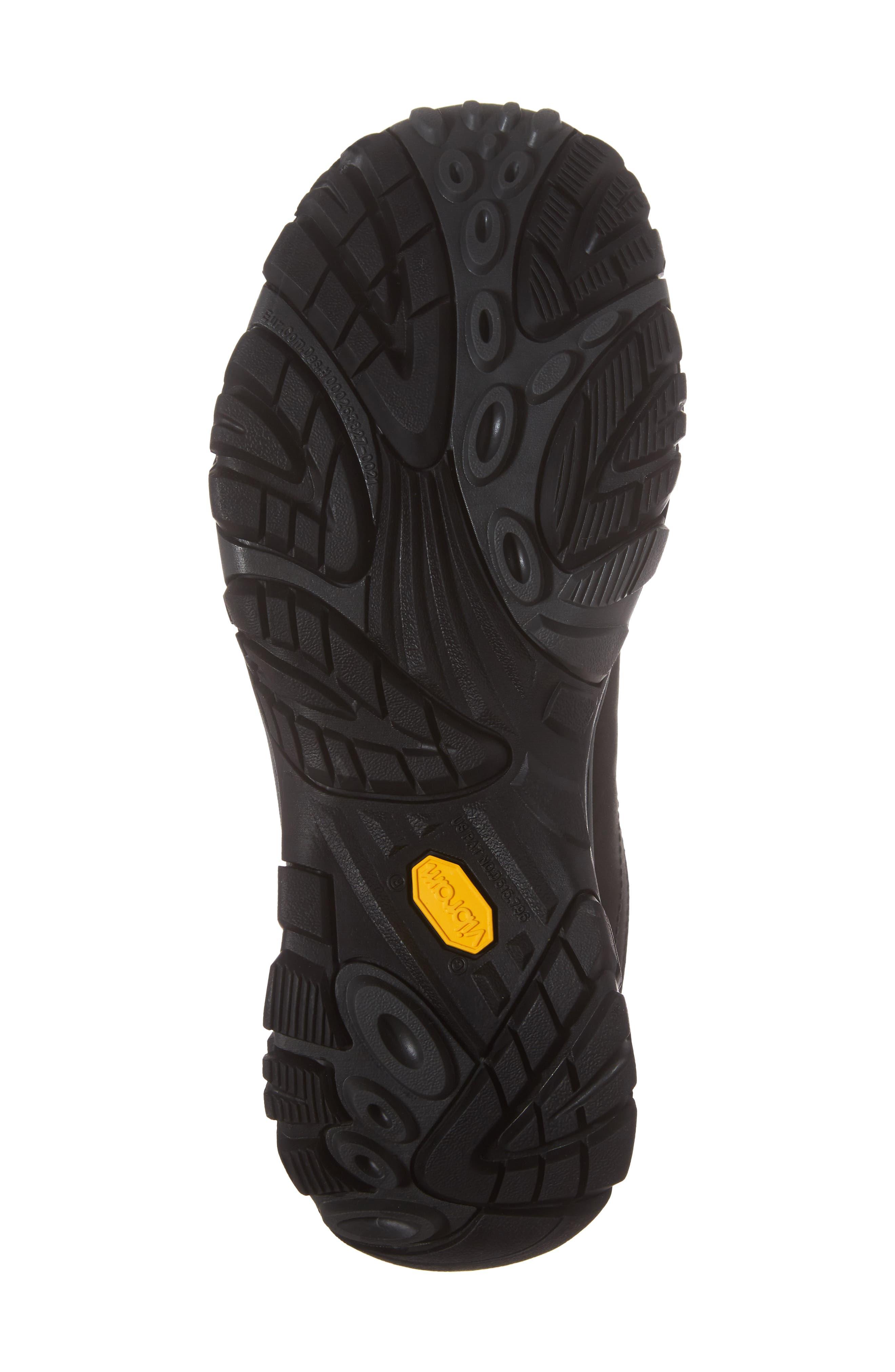 Moab Adventure Hiking Shoe,                             Alternate thumbnail 6, color,                             BLACK NUBUCK LEATHER