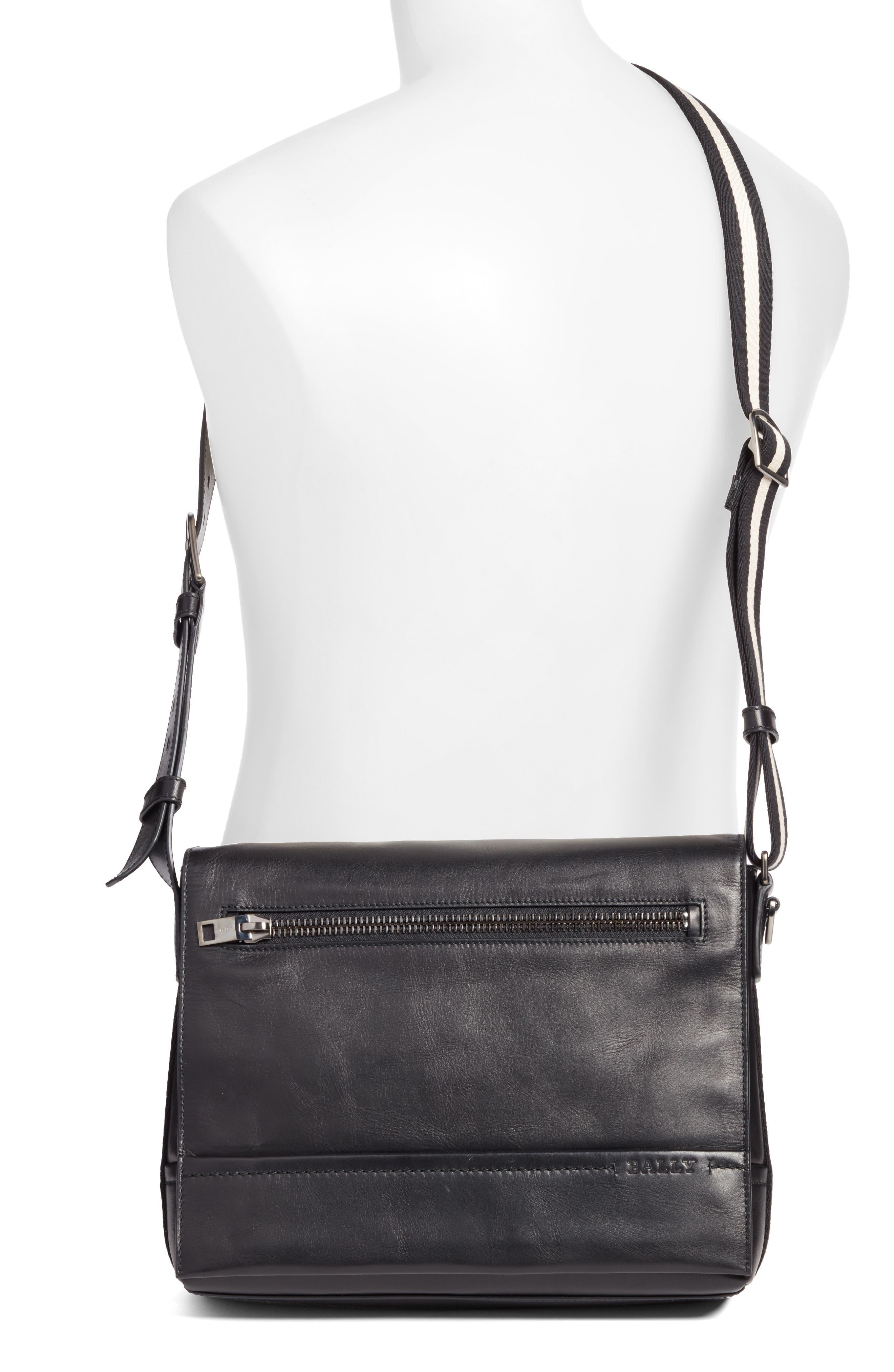 Tamrac Leather Messenger Bag,                             Alternate thumbnail 2, color,                             001