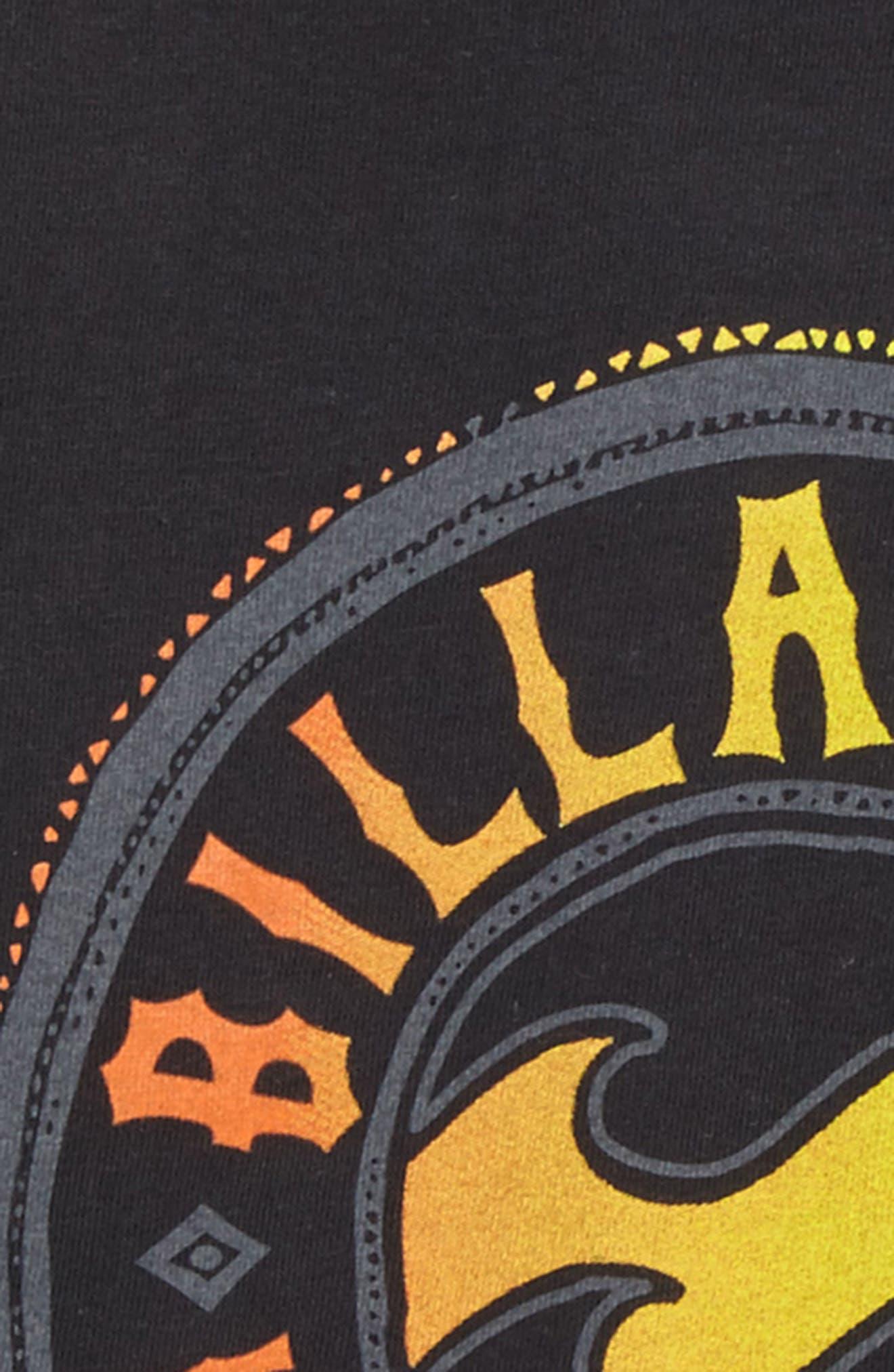 Flip Wave Long Sleeve Graphic T-Shirt,                             Alternate thumbnail 3, color,                             001