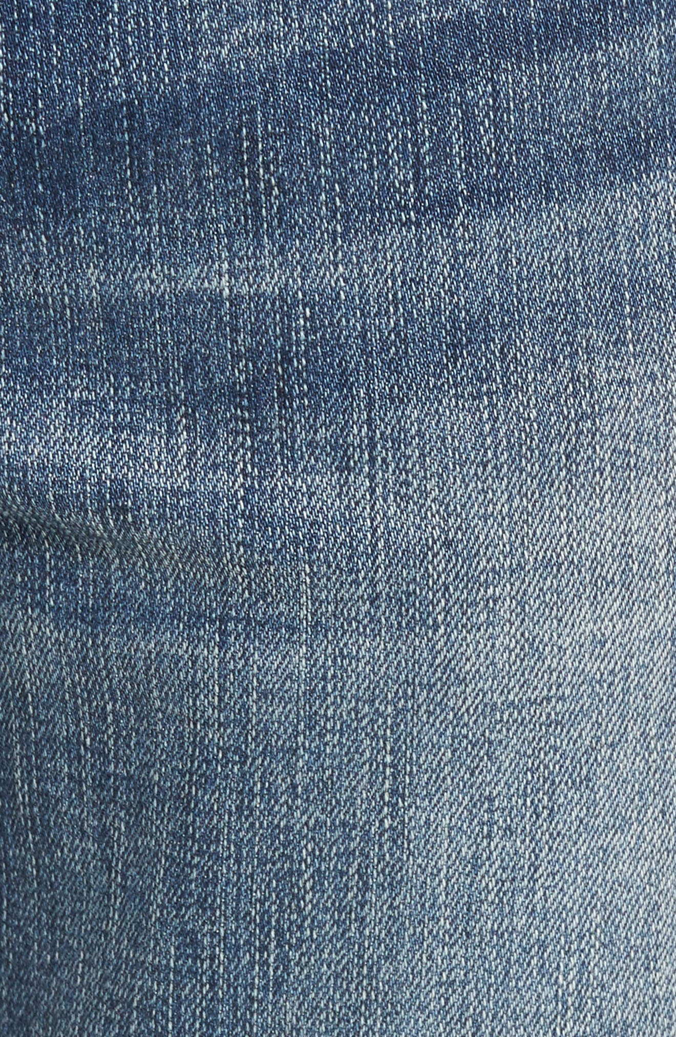 Finn Frayed Skinny Fit Jeans,                             Alternate thumbnail 5, color,                             402