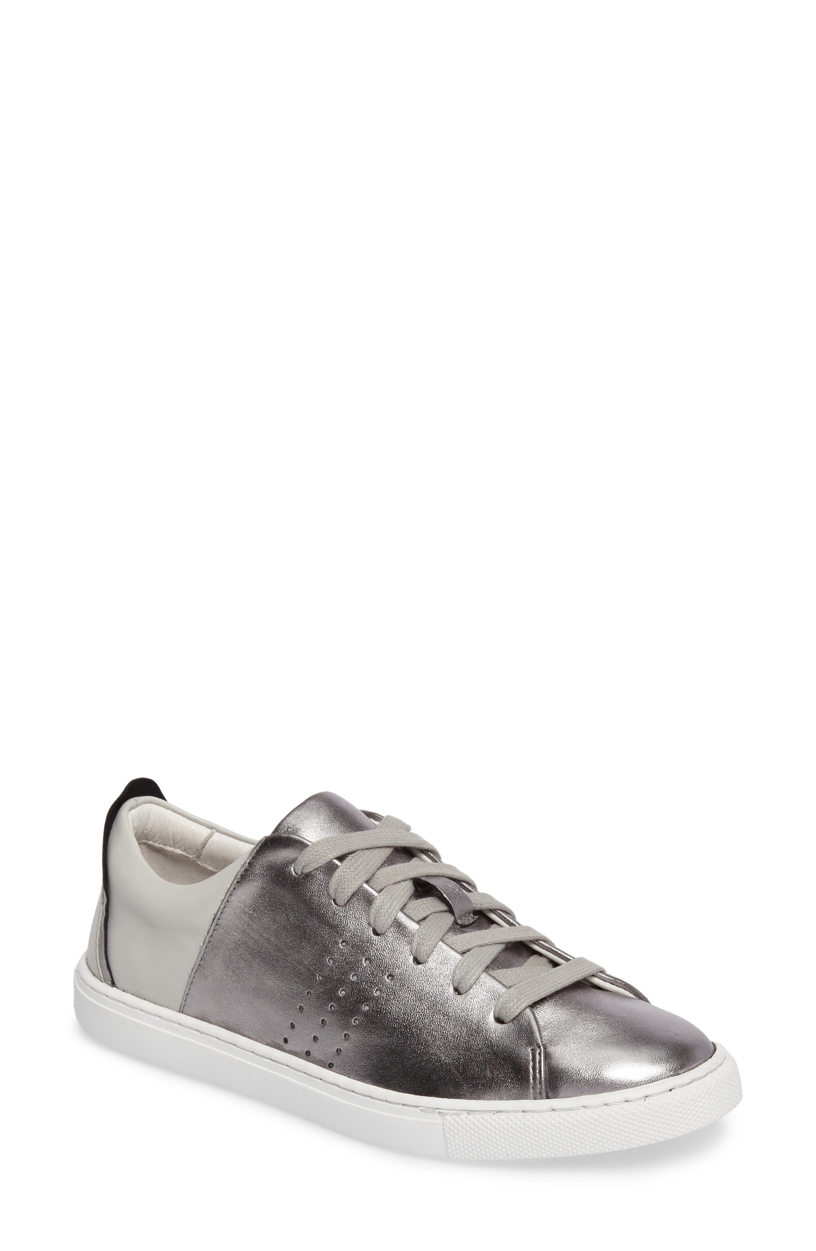 Splits Two-Tone Perforated Sneaker,                             Main thumbnail 1, color,                             045