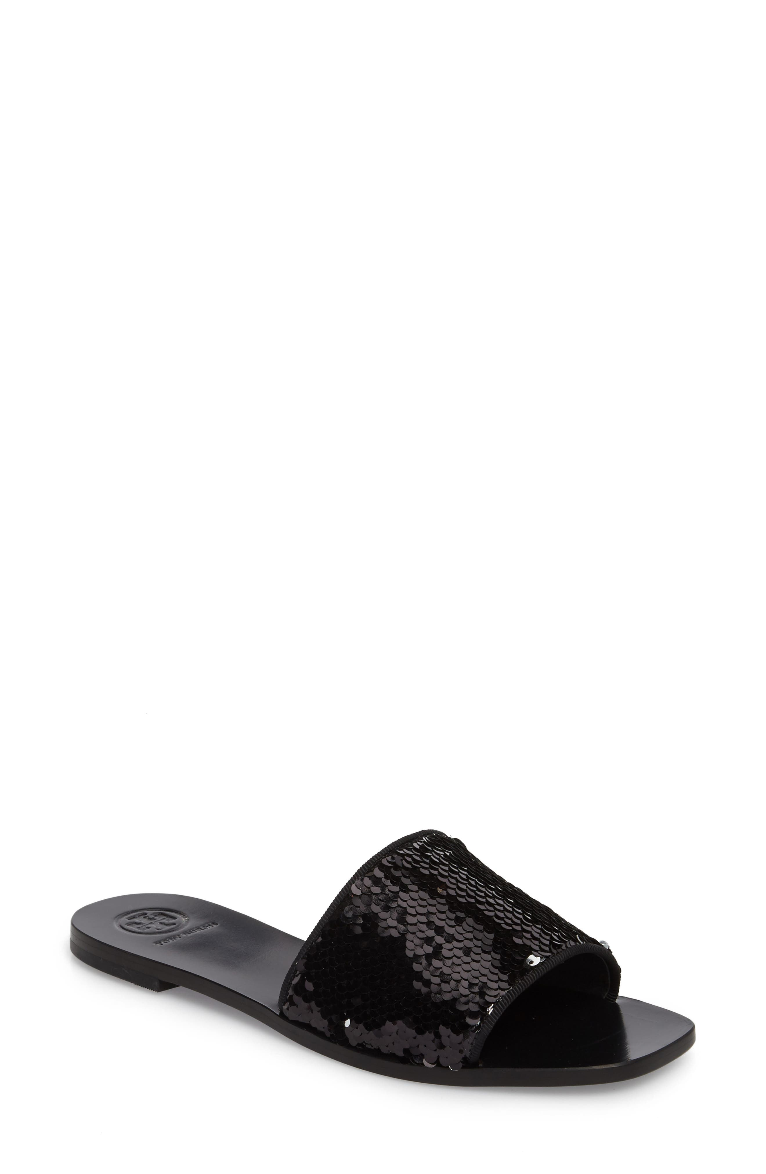 Carter Sequin Slide Sandal,                             Main thumbnail 1, color,                             043