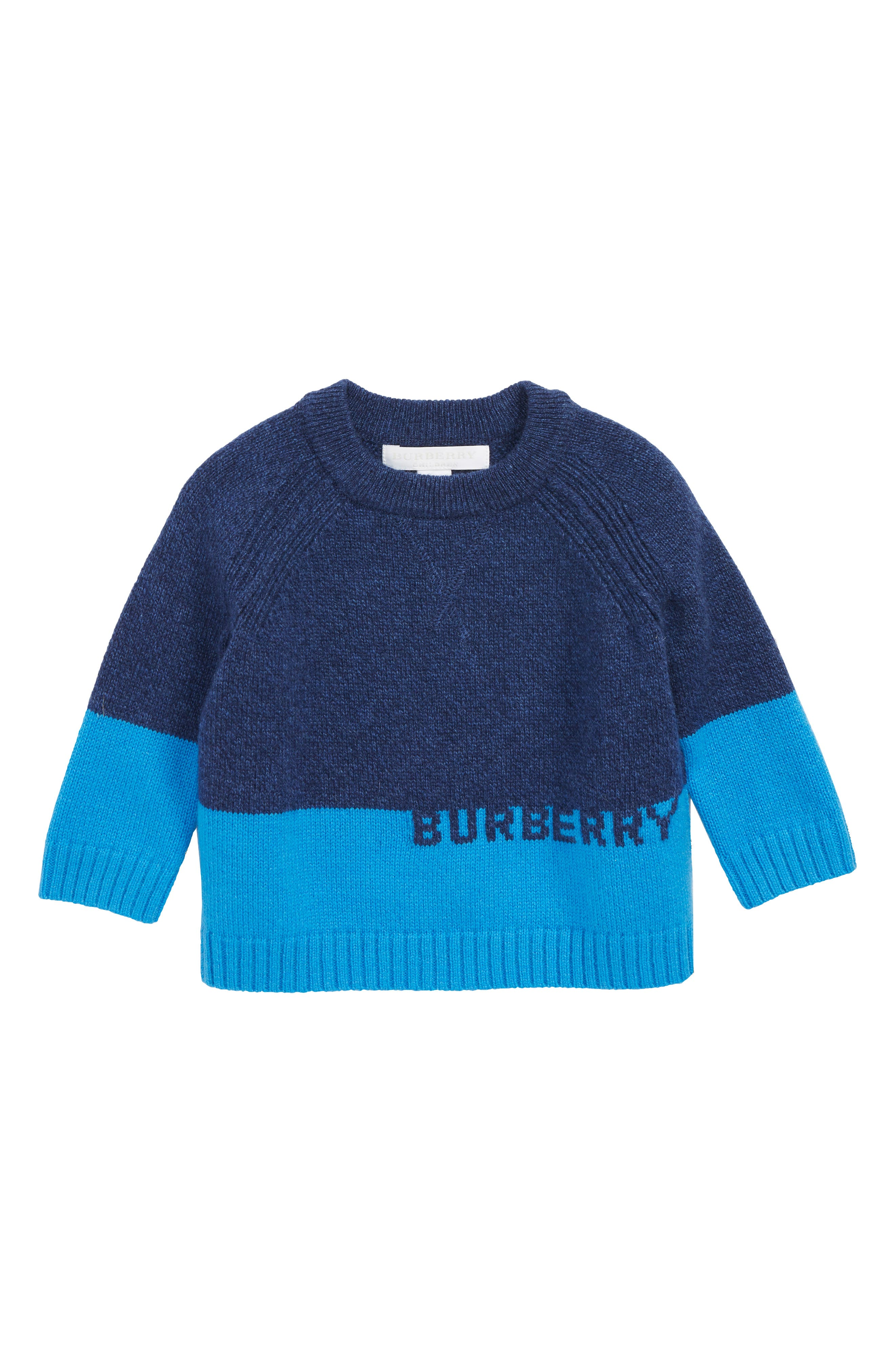 Alister Colorblock Cashmere Sweater,                             Main thumbnail 1, color,                             NAVY