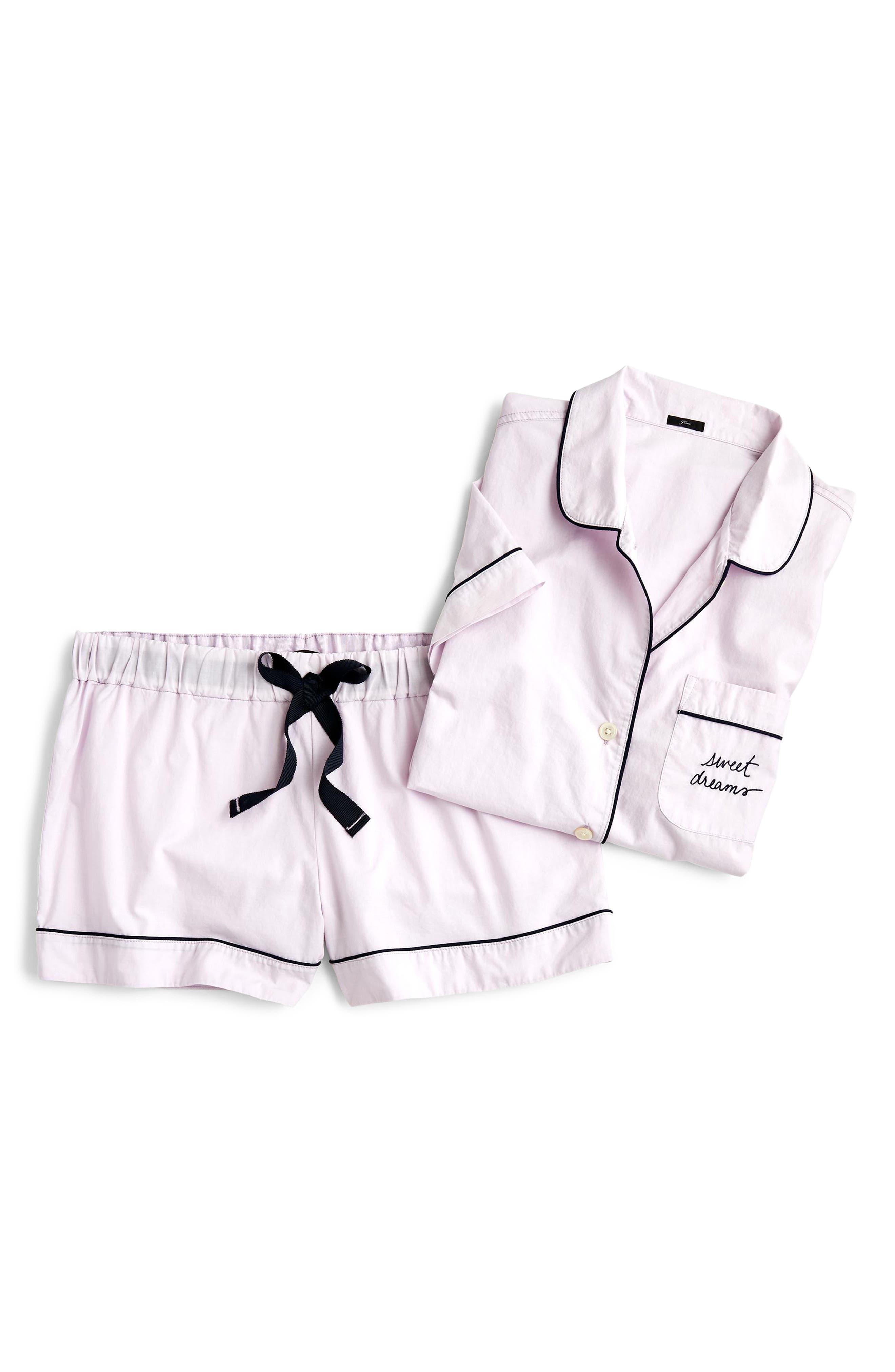 Sweet Dreams Short Pajamas,                         Main,                         color, SMOKY WISTERIA