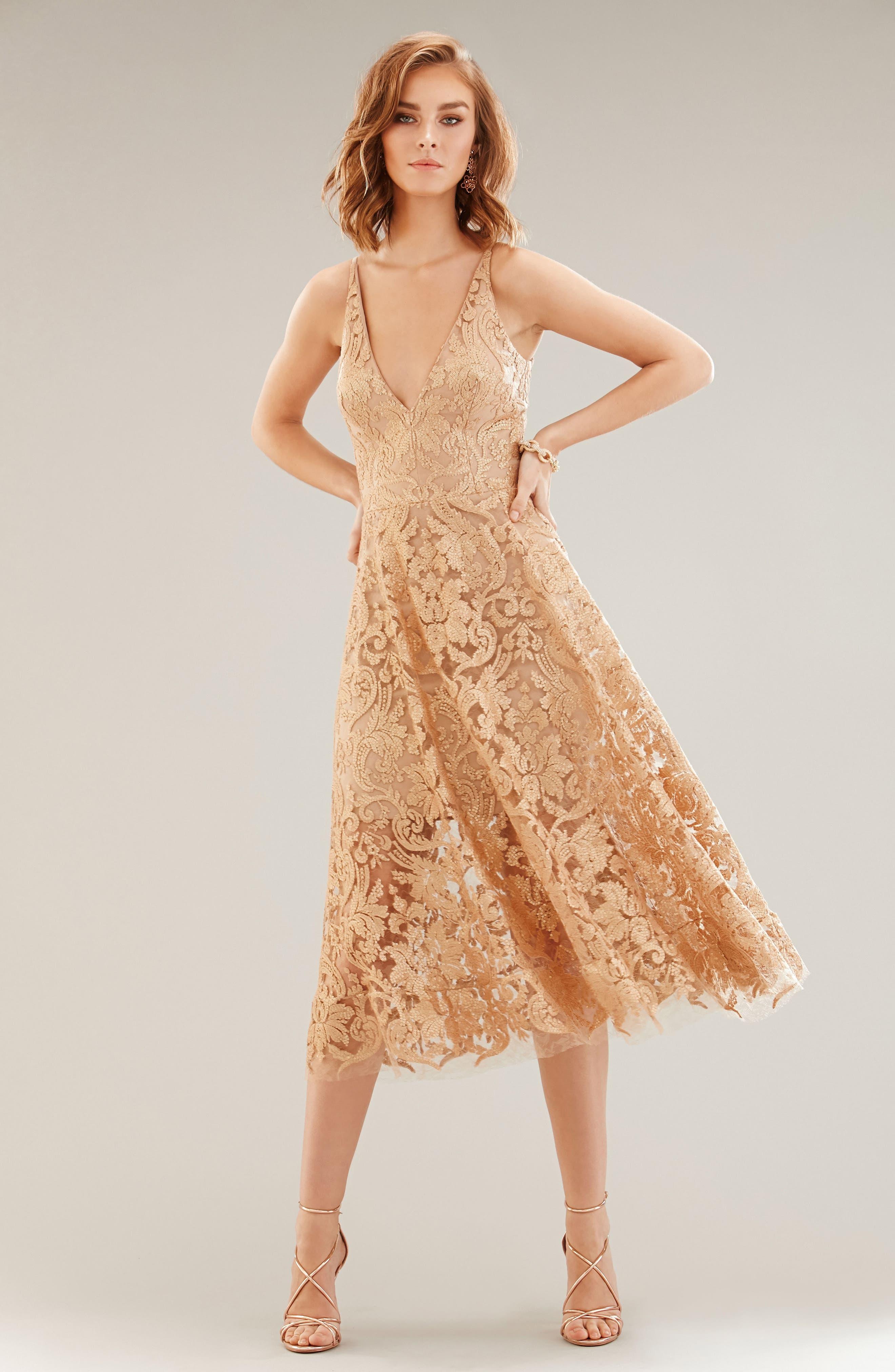 Blair Embellished Fit & Flare Dress,                             Alternate thumbnail 35, color,
