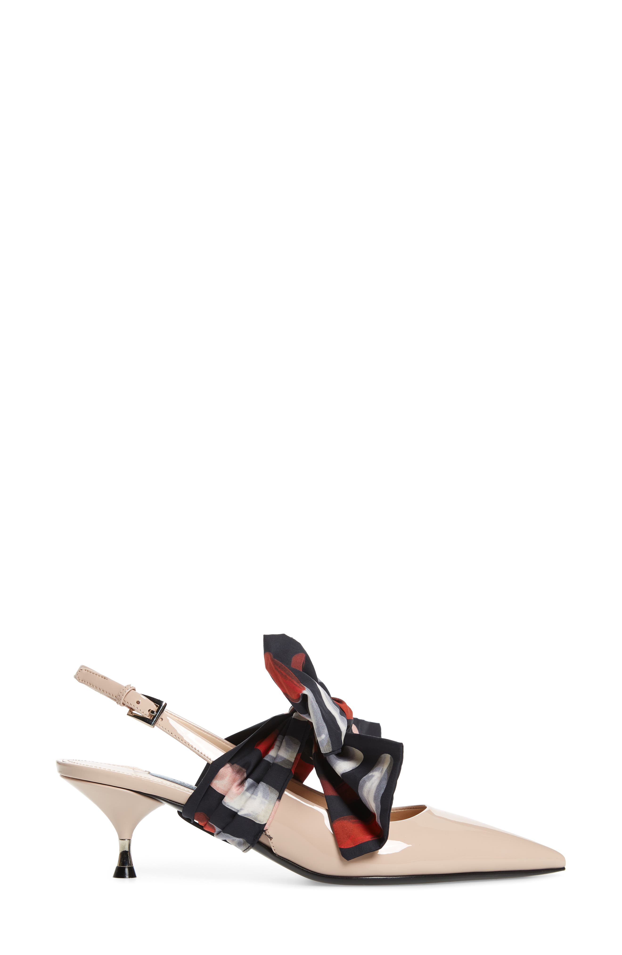 Bow Pointy Toe Pump,                             Alternate thumbnail 4, color,                             CIPRIA