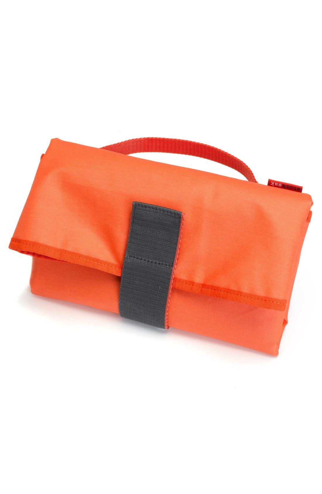 'Eden' Faux Leather Diaper Bag,                             Alternate thumbnail 6, color,                             GREY
