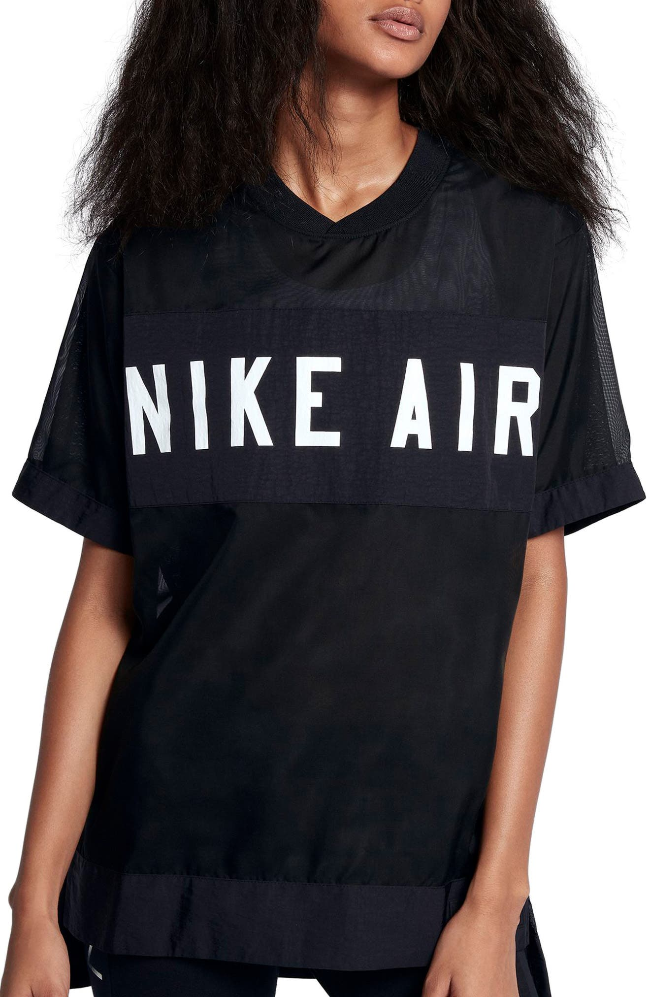 Air Tee,                         Main,                         color, BLACK