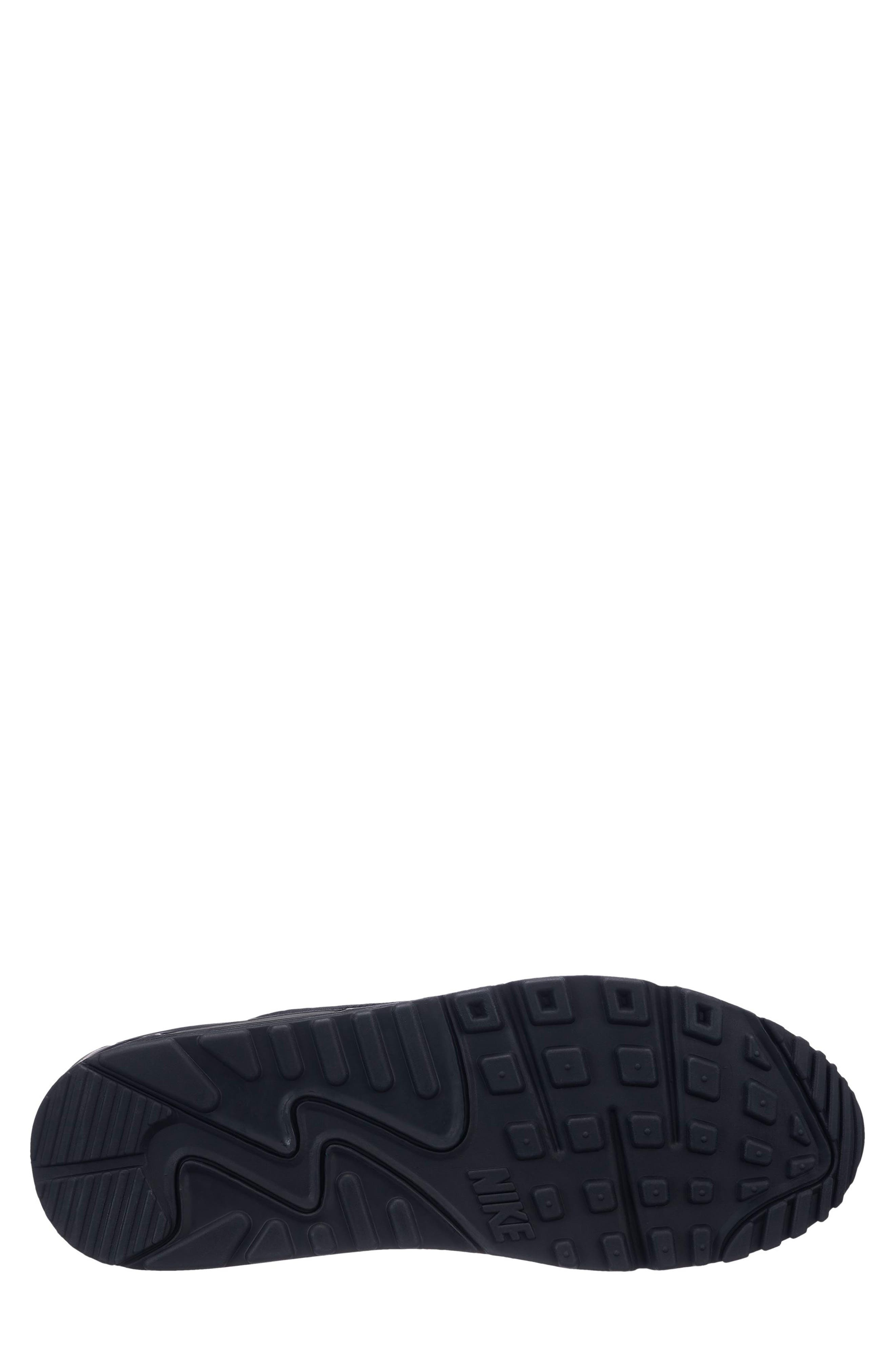 Air Max 90 Essential Sneaker,                             Alternate thumbnail 2, color,                             BLACK/ WHITE
