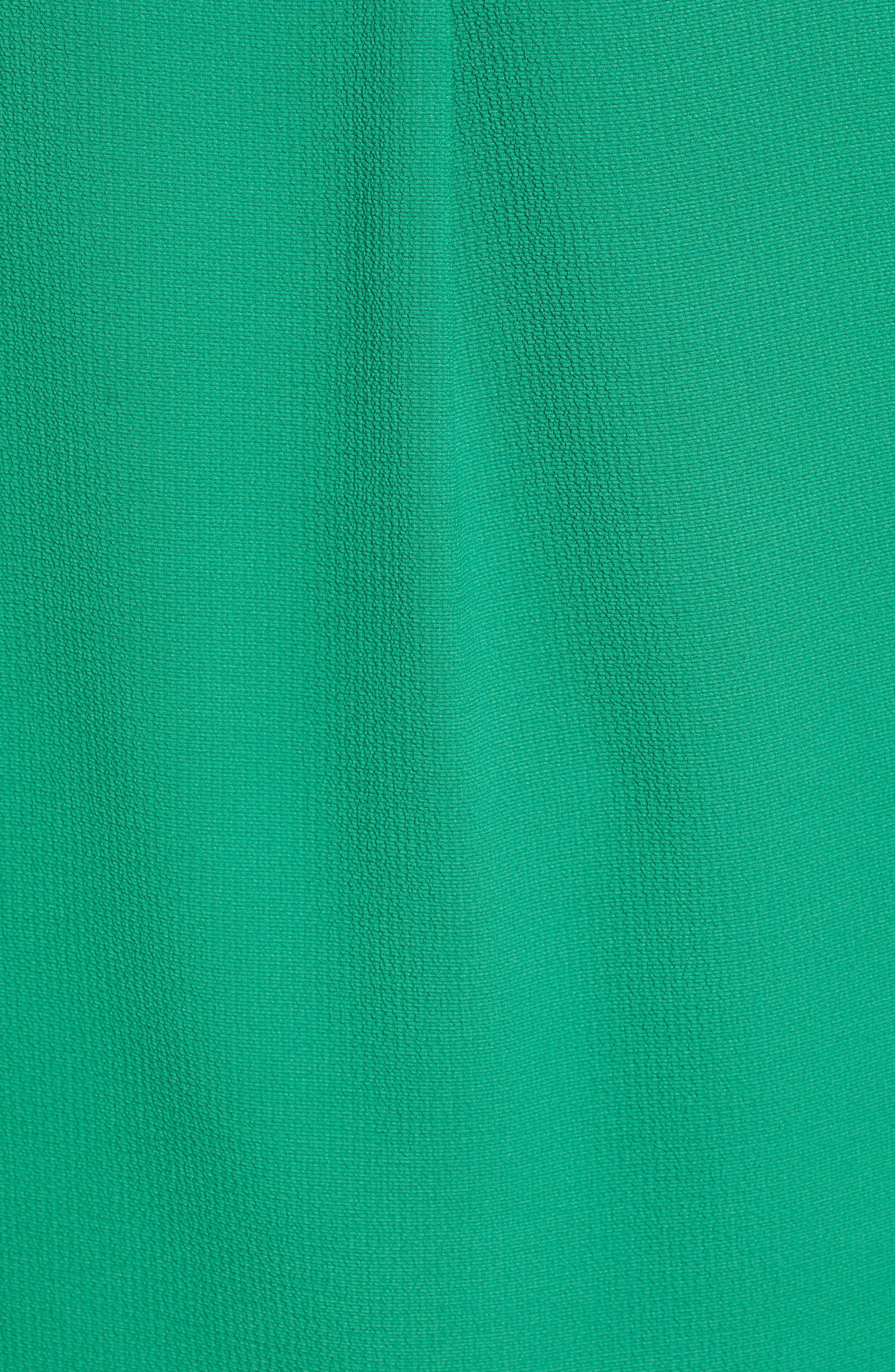 GIBSON, x International Women's Day Ruthie Split Neck Blouse, Alternate thumbnail 5, color, GREEN AMAZON