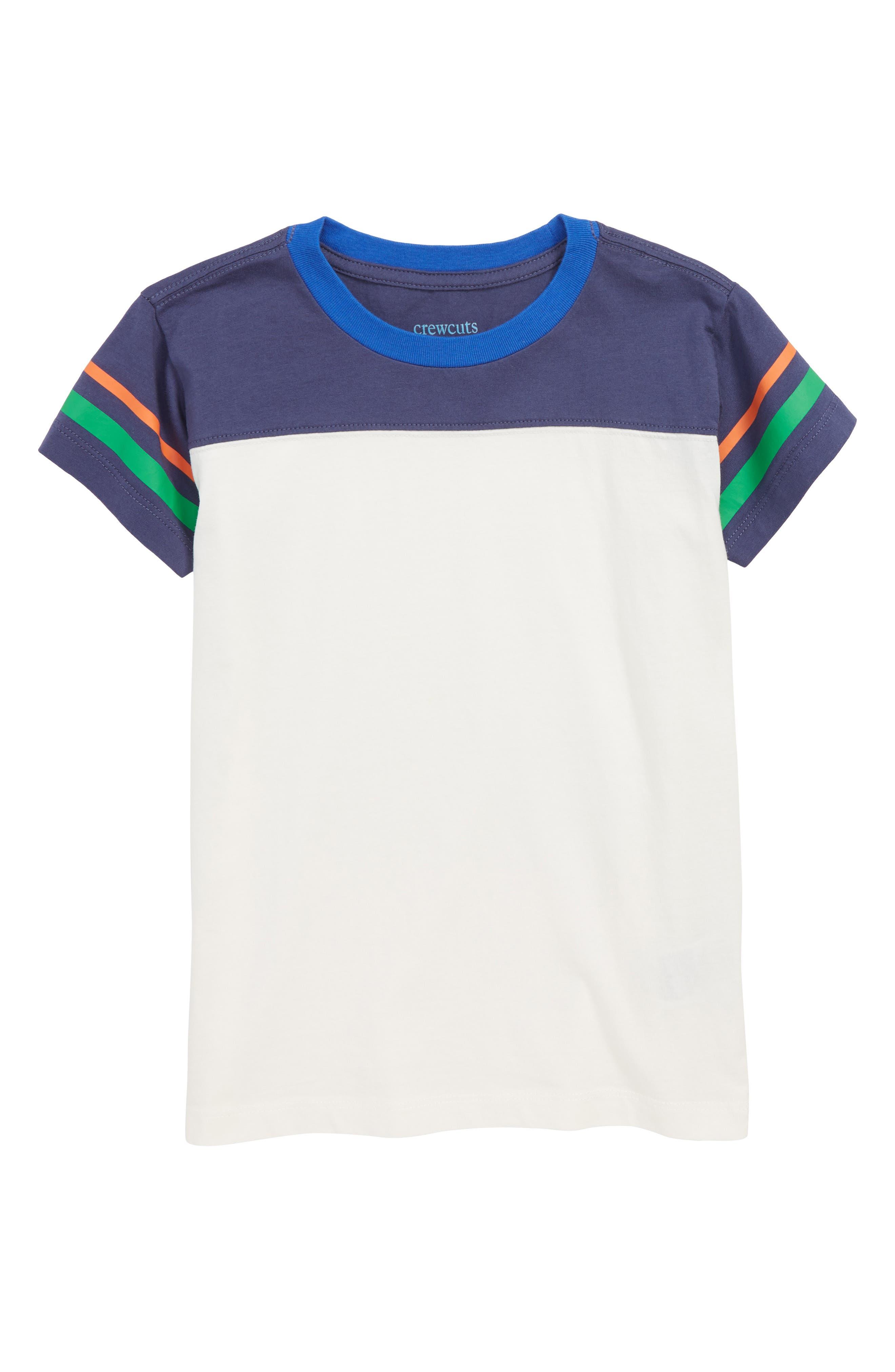 Stripe Football T-Shirt,                             Main thumbnail 1, color,                             IVORY