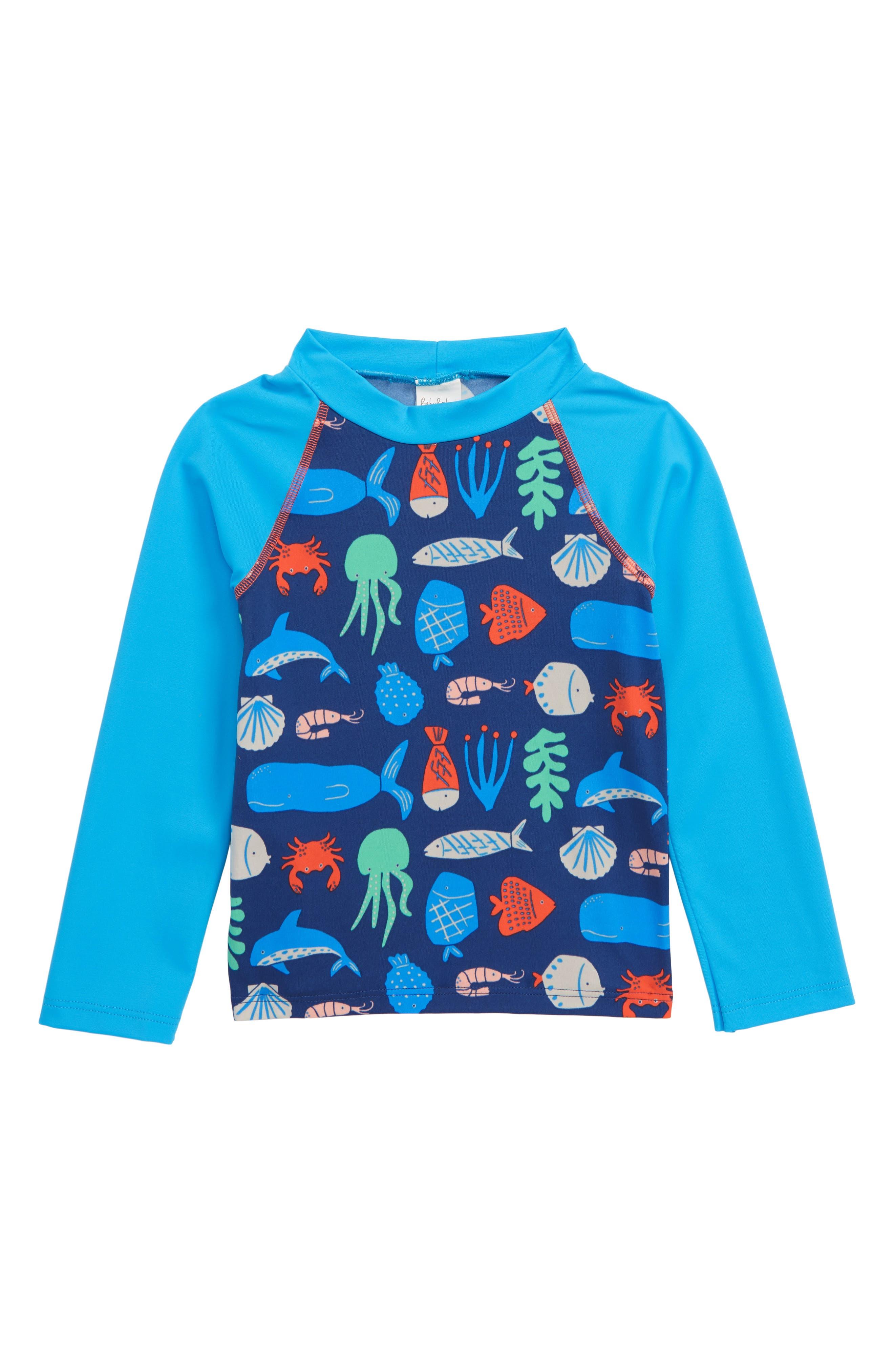 Toddler Boys Mini Boden Long Sleeve Rashguard